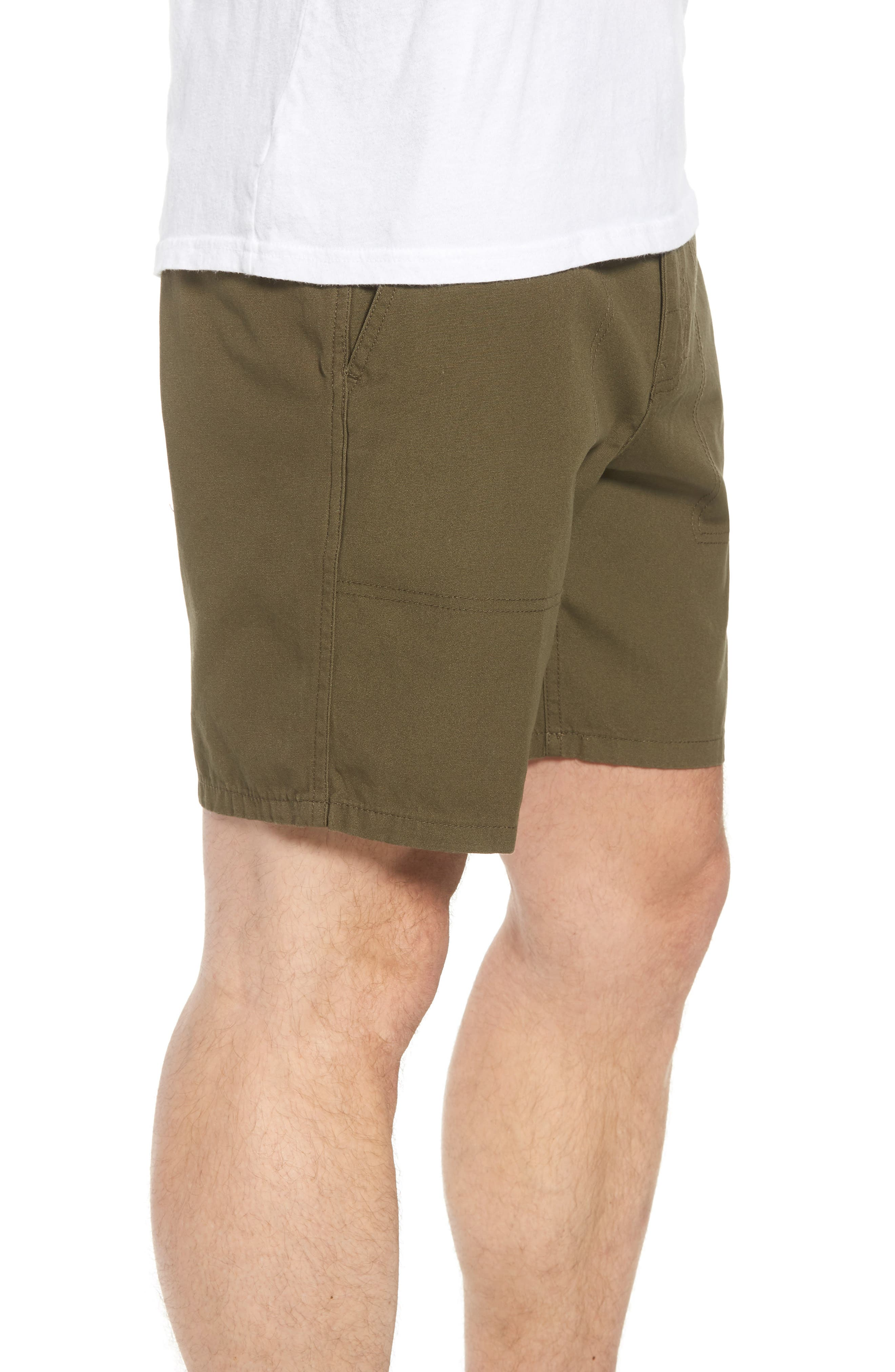 Collins Canvas Shorts,                             Alternate thumbnail 3, color,                             Fatigue Green