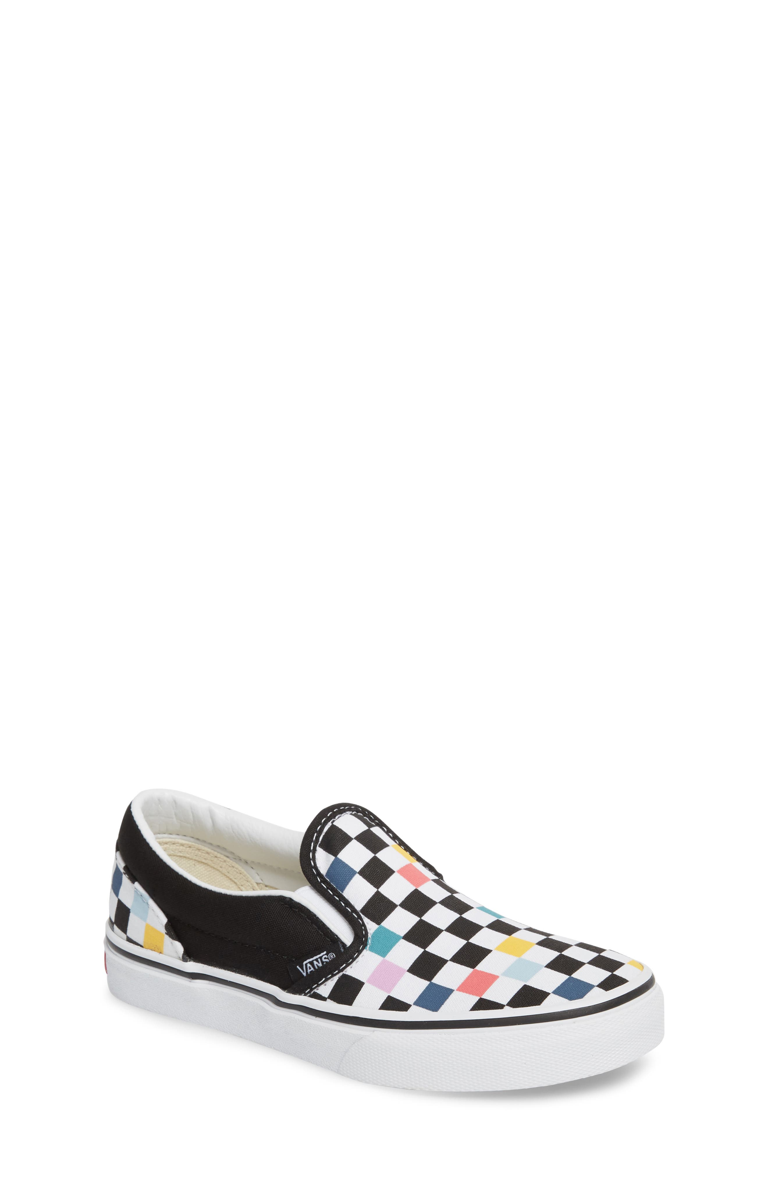Party Check Slip-On Sneaker,                             Main thumbnail 1, color,                             Party Checker Multi/ Black