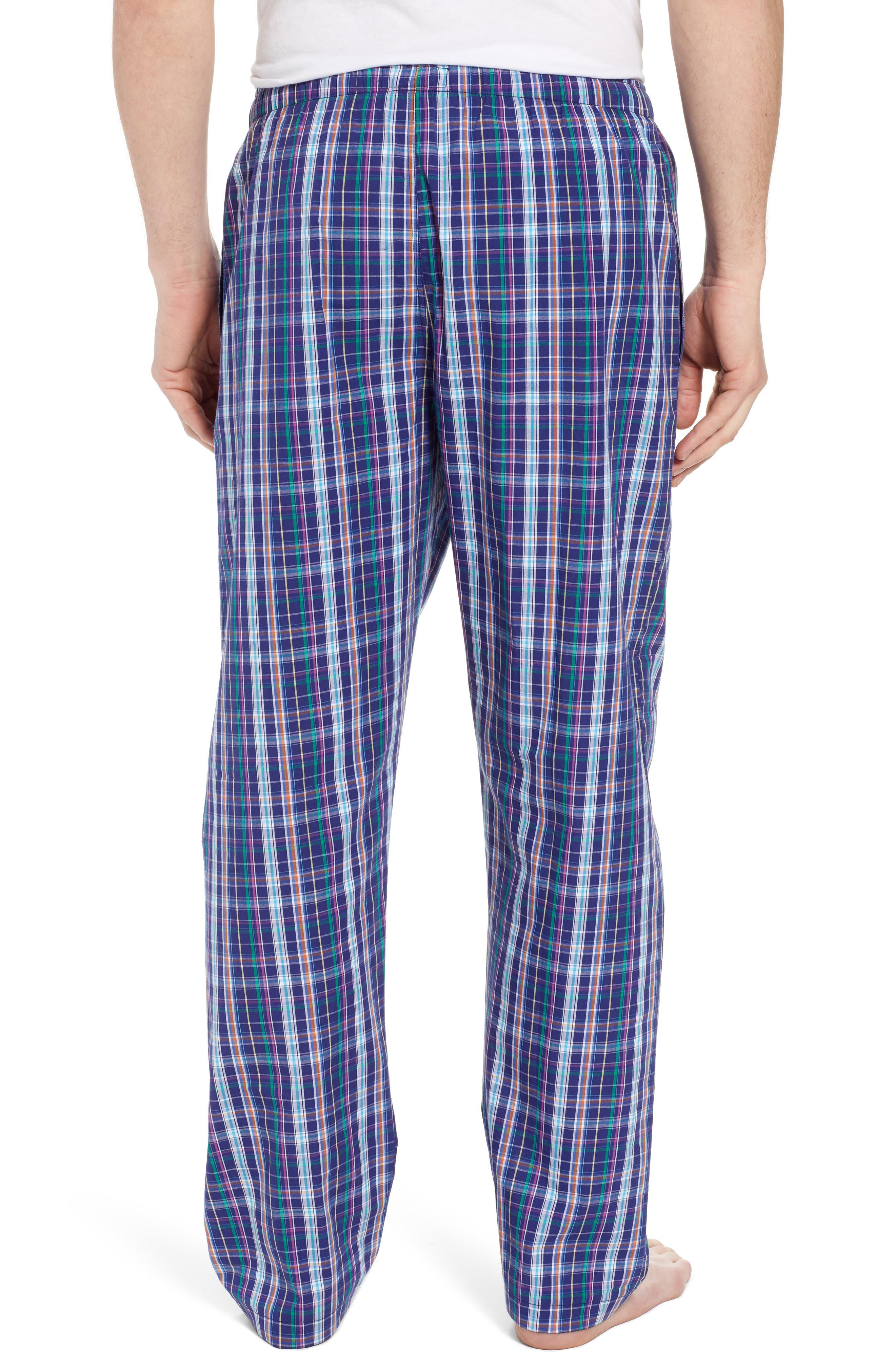Cotton Lounge Pants,                             Alternate thumbnail 2, color,                             Alton Plaid/ May Orange