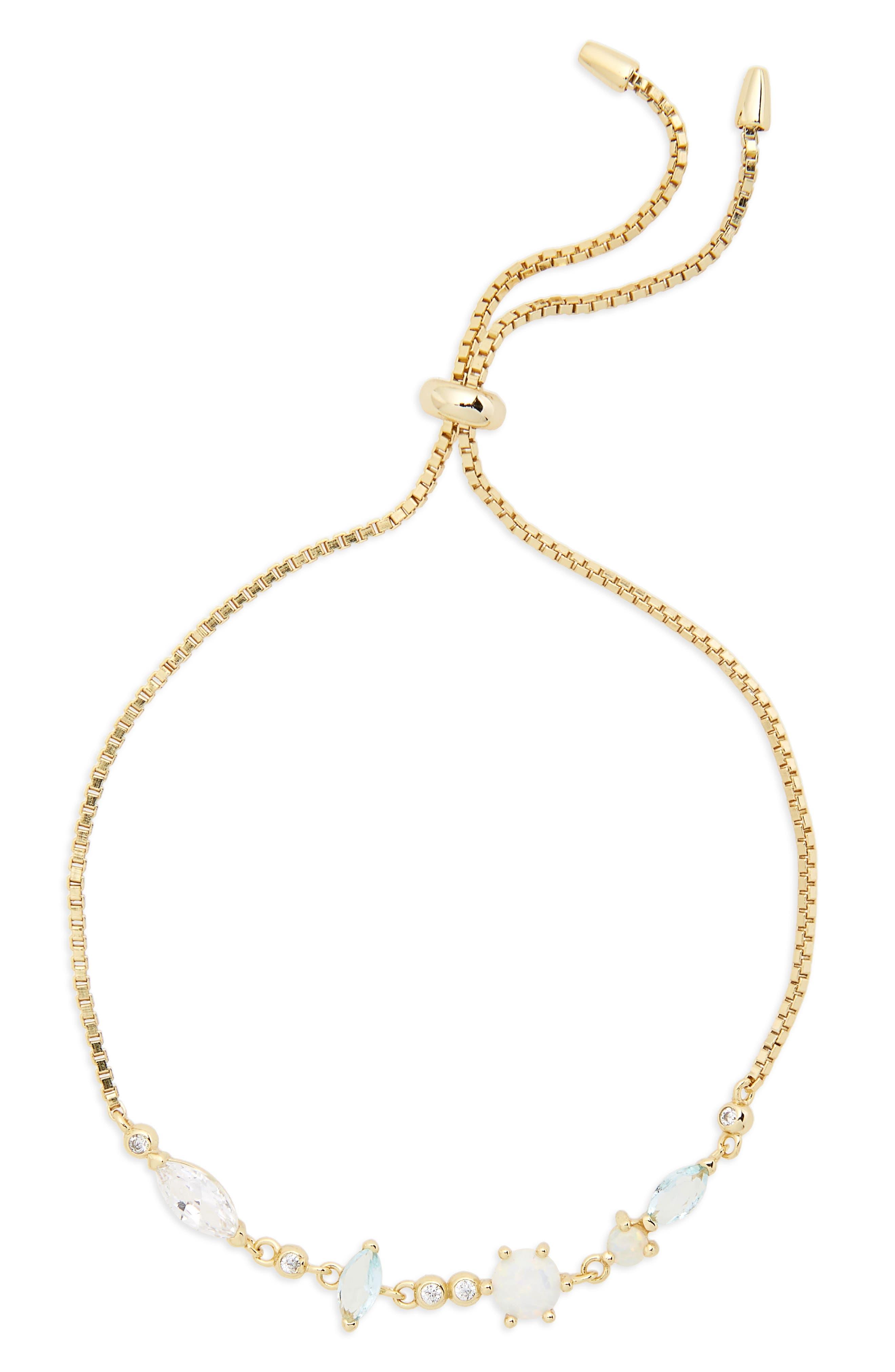 Sydney Multi-Stone Slider Bracelet,                             Main thumbnail 1, color,                             Gold