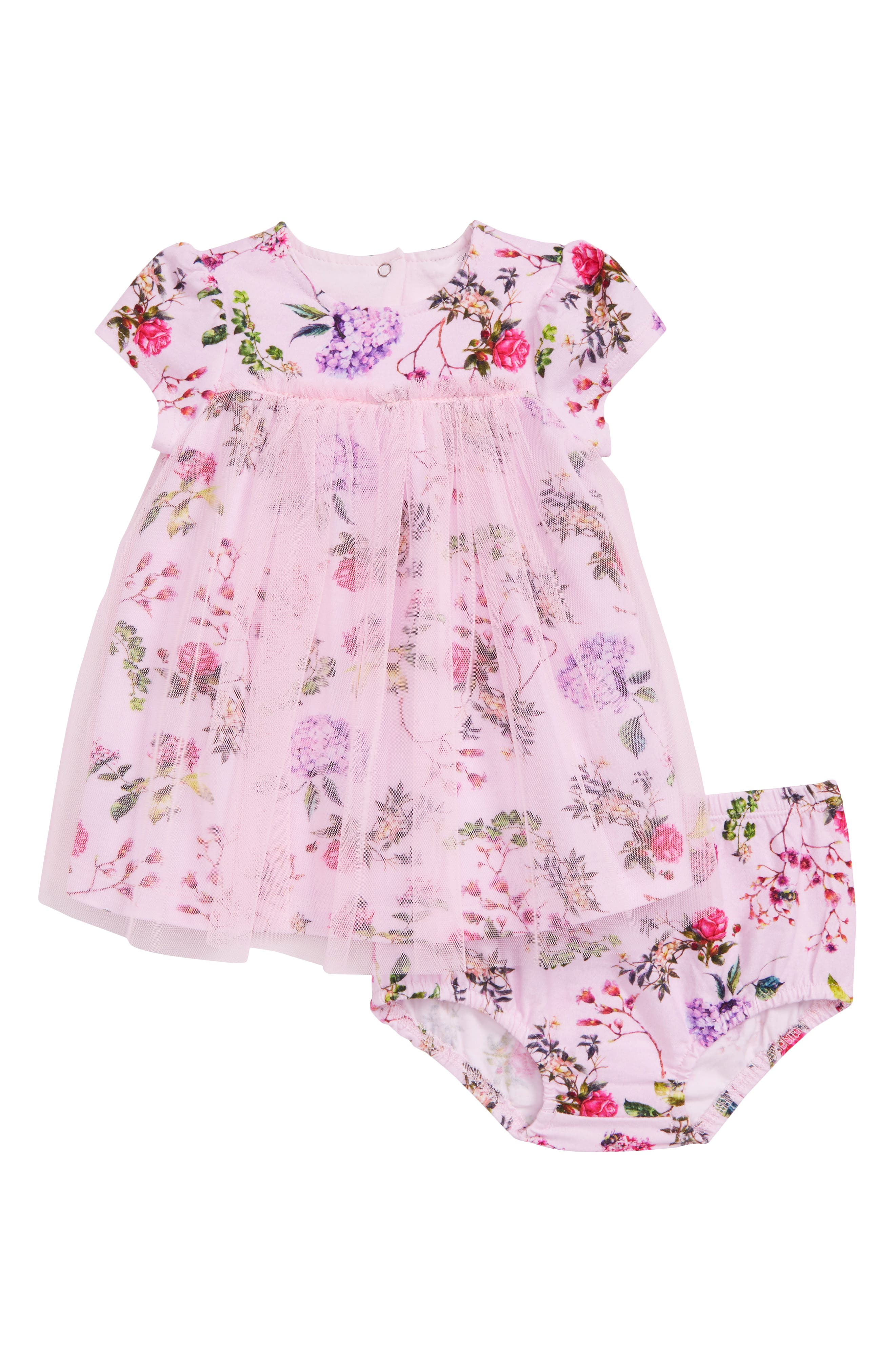 Botanical Blooms Tulle Dress,                         Main,                         color, Floral