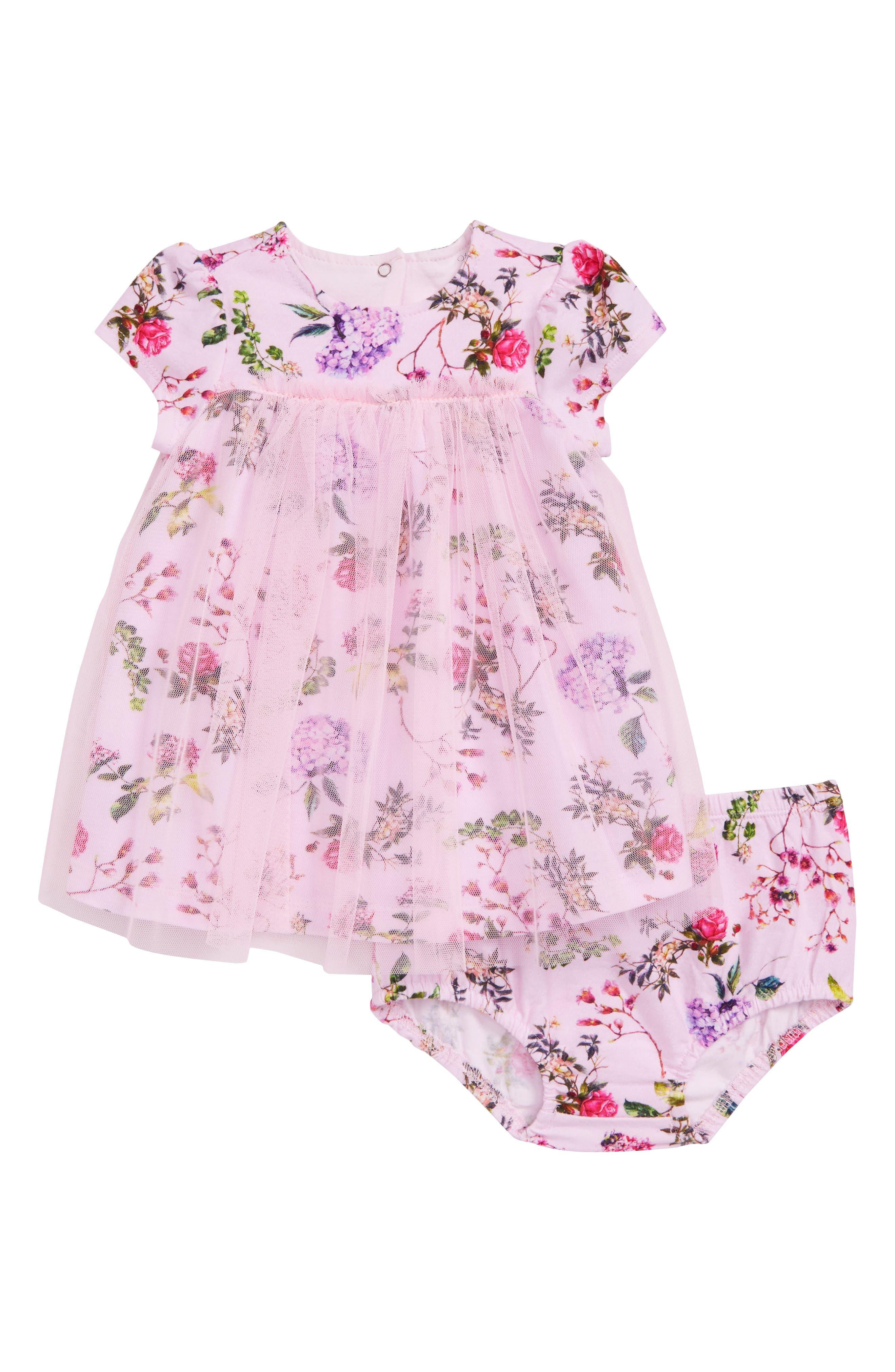 Offspring Botanical Blooms Tulle Dress (Baby Girls)