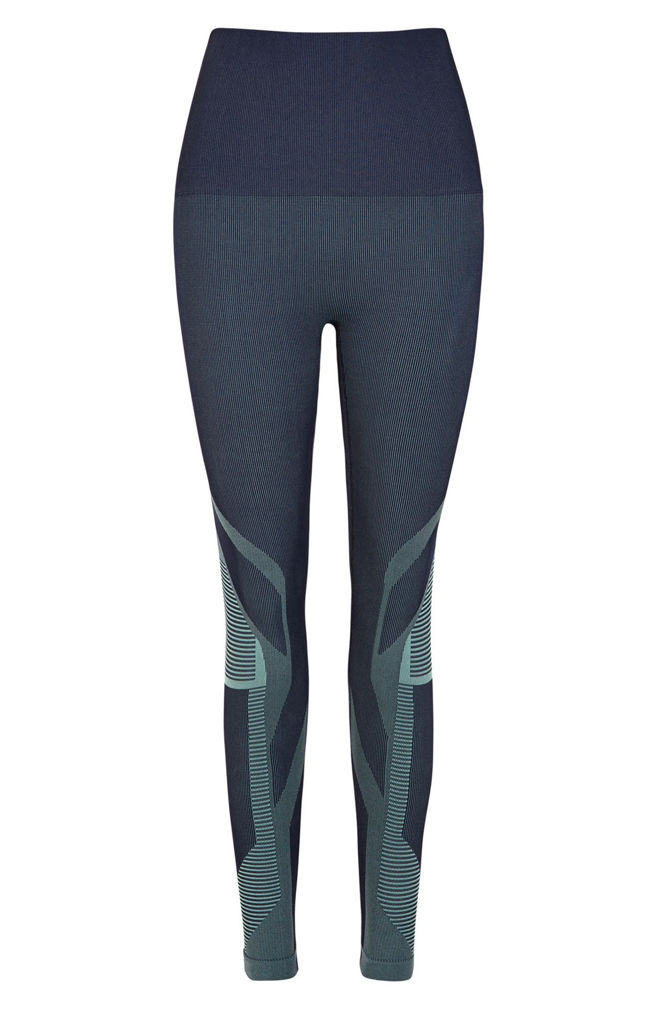 Spectrum High Waist Seamless Leggings,                             Alternate thumbnail 6, color,                             Deep Sea Navy