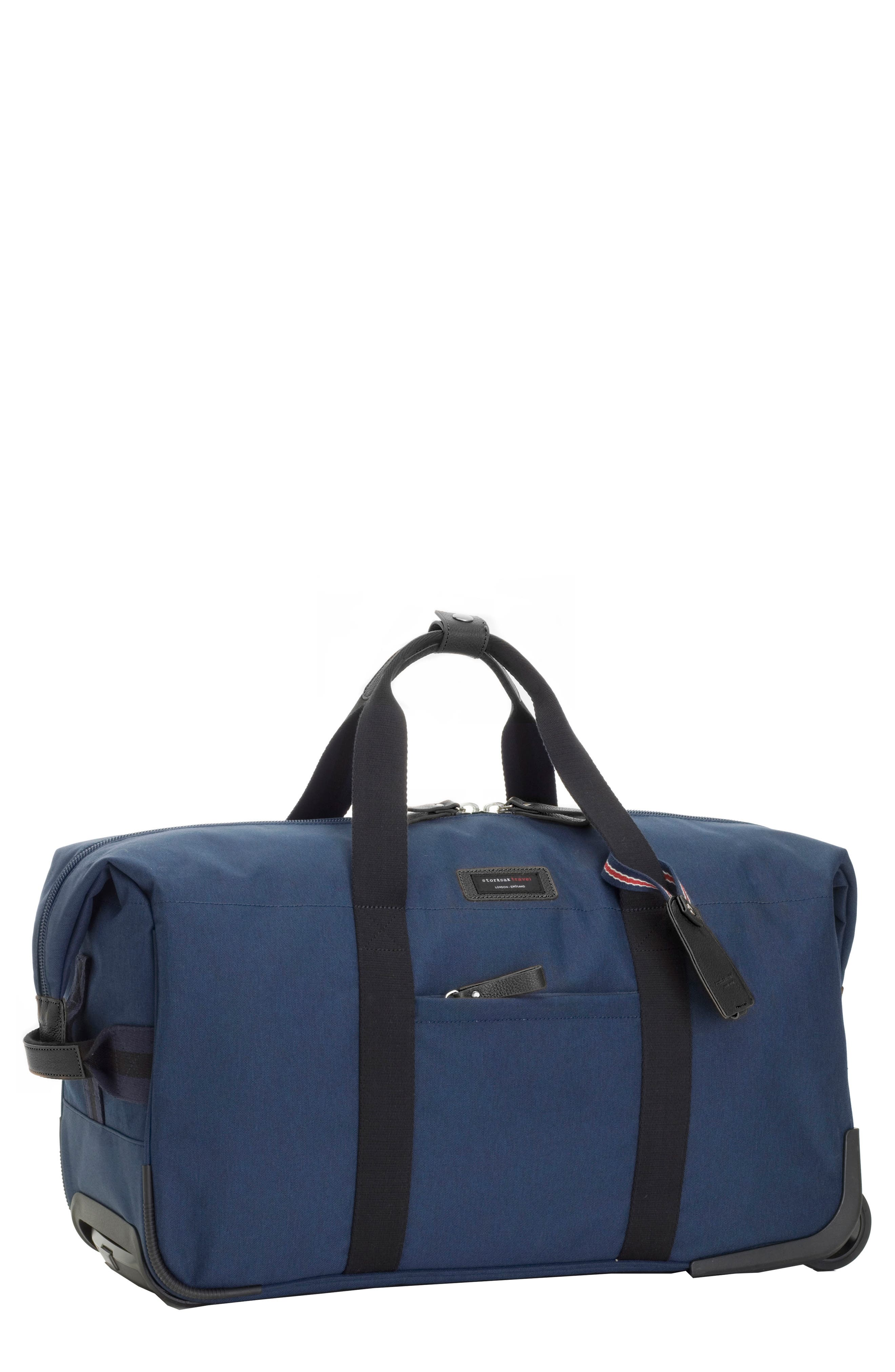 Cabin Wheeled Carry-On with Hanging Organizer,                         Main,                         color, Navy