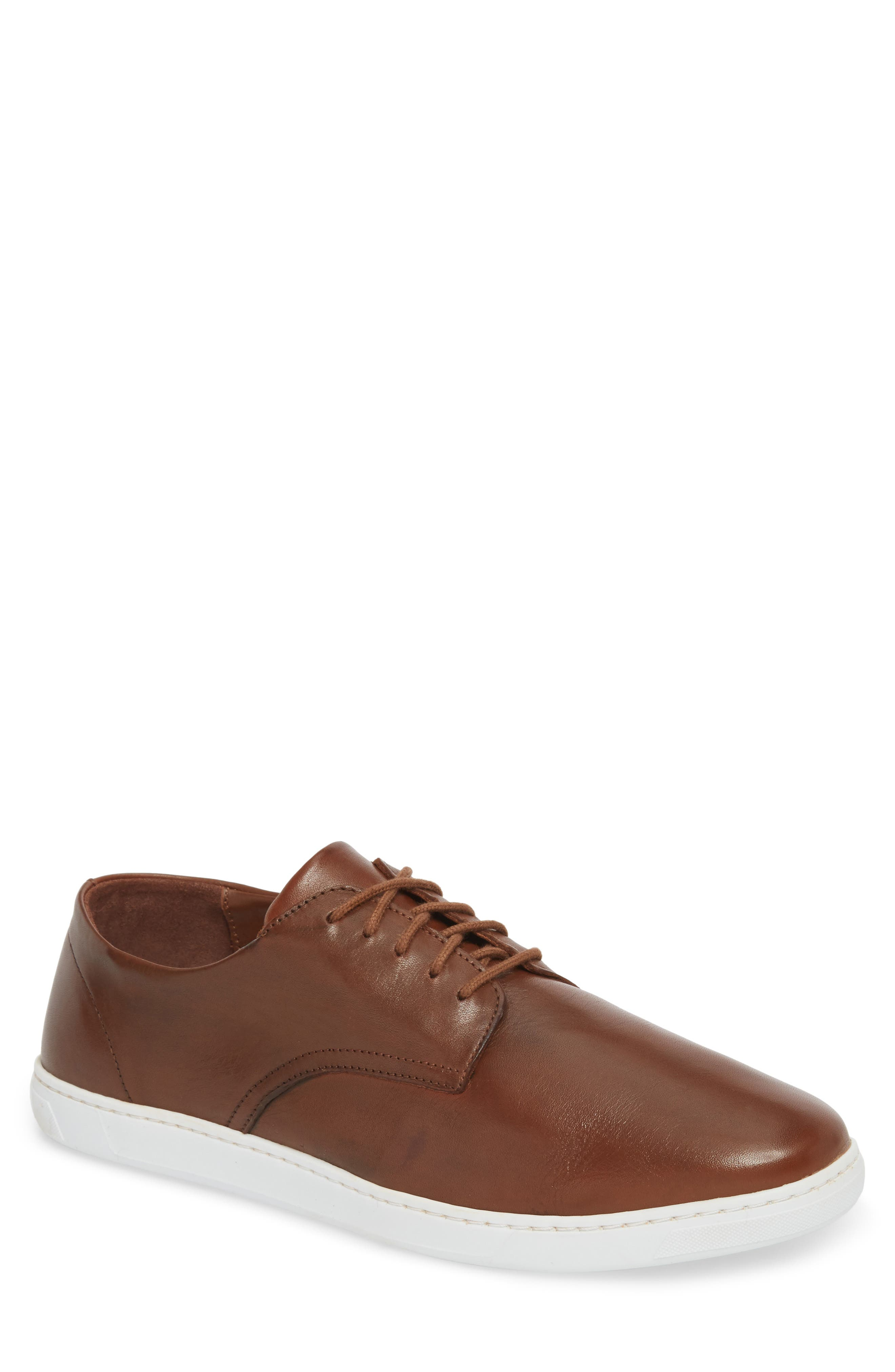 Nok Derby Sneaker,                             Main thumbnail 1, color,                             Brown Leather