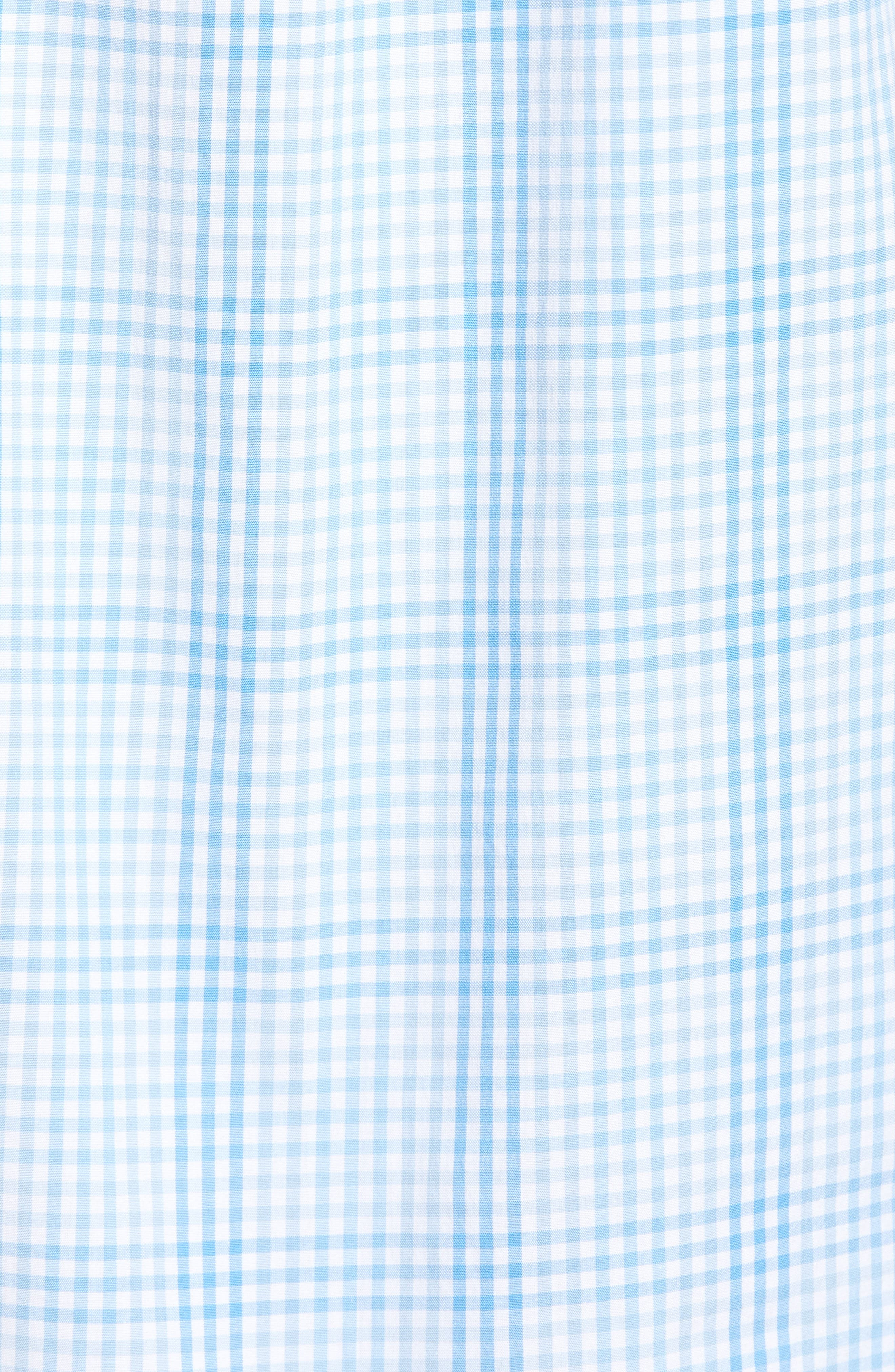 Ridge Hill Classic Fit Check Sport Shirt,                             Alternate thumbnail 5, color,                             Harbor Cay