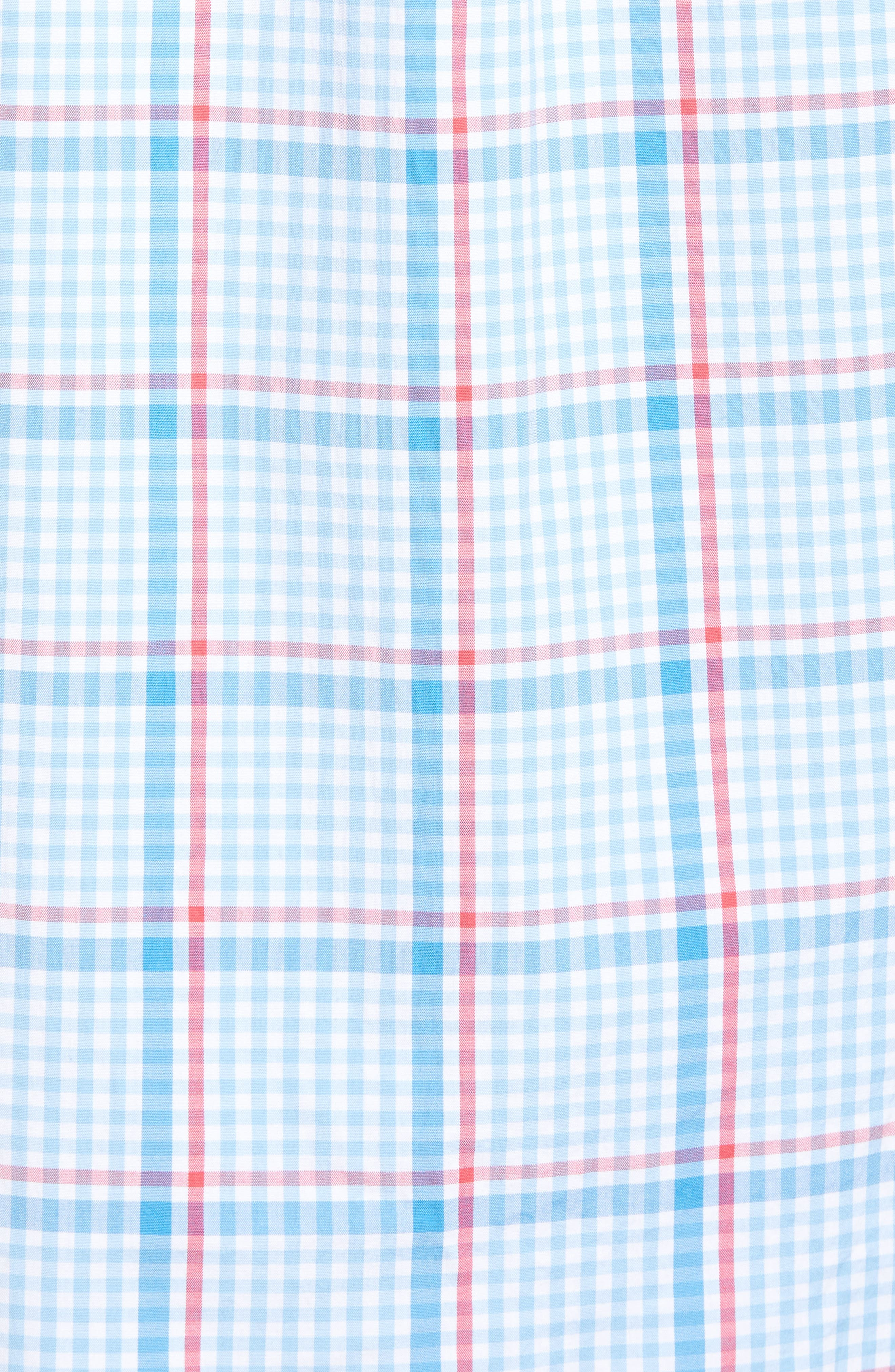 Palmer Island Classic Fit Plaid Sport Shirt,                             Alternate thumbnail 5, color,                             Ocean Breeze