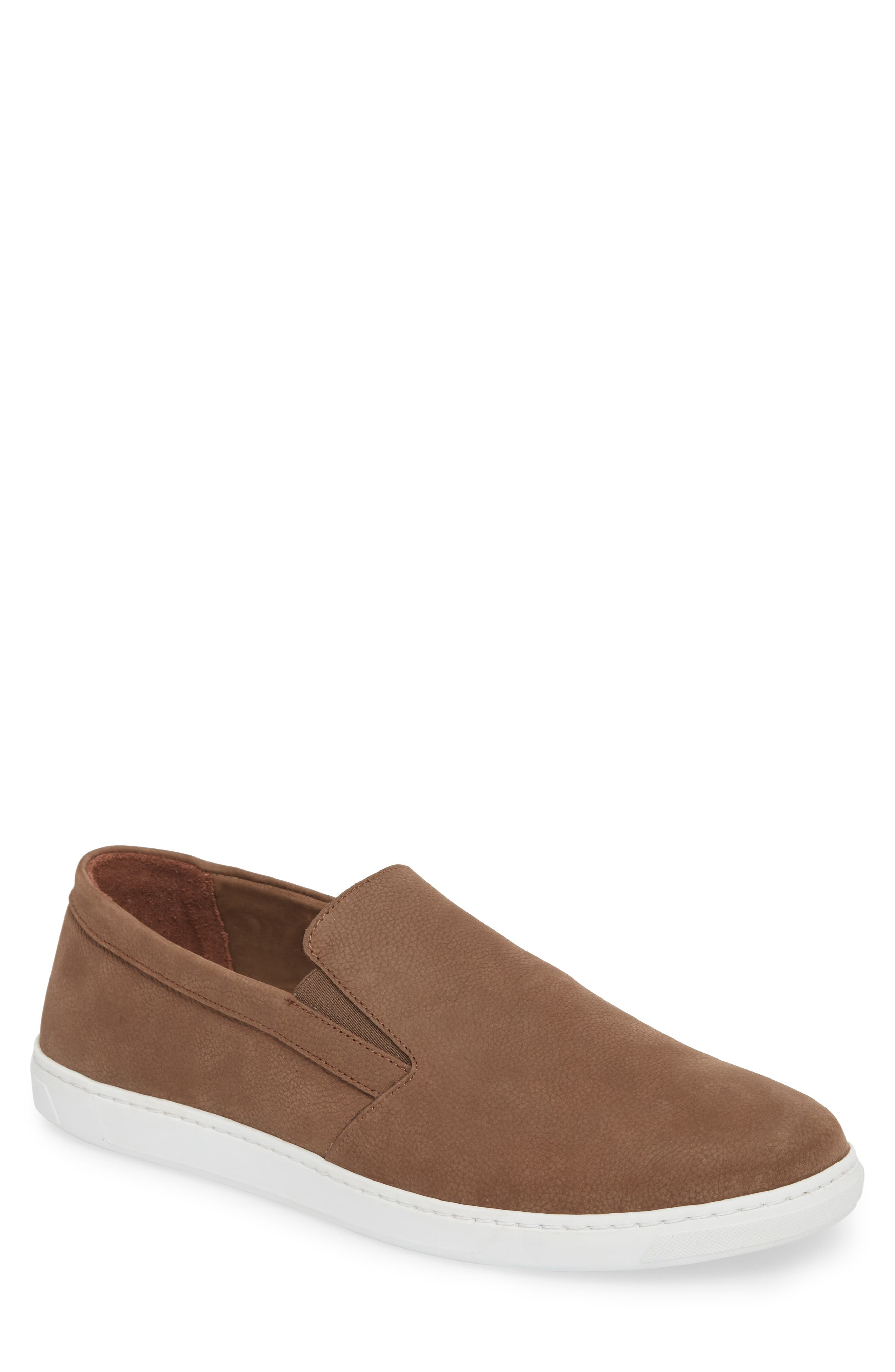 Neff Slip-On Sneaker,                             Main thumbnail 1, color,                             Taupe Leather