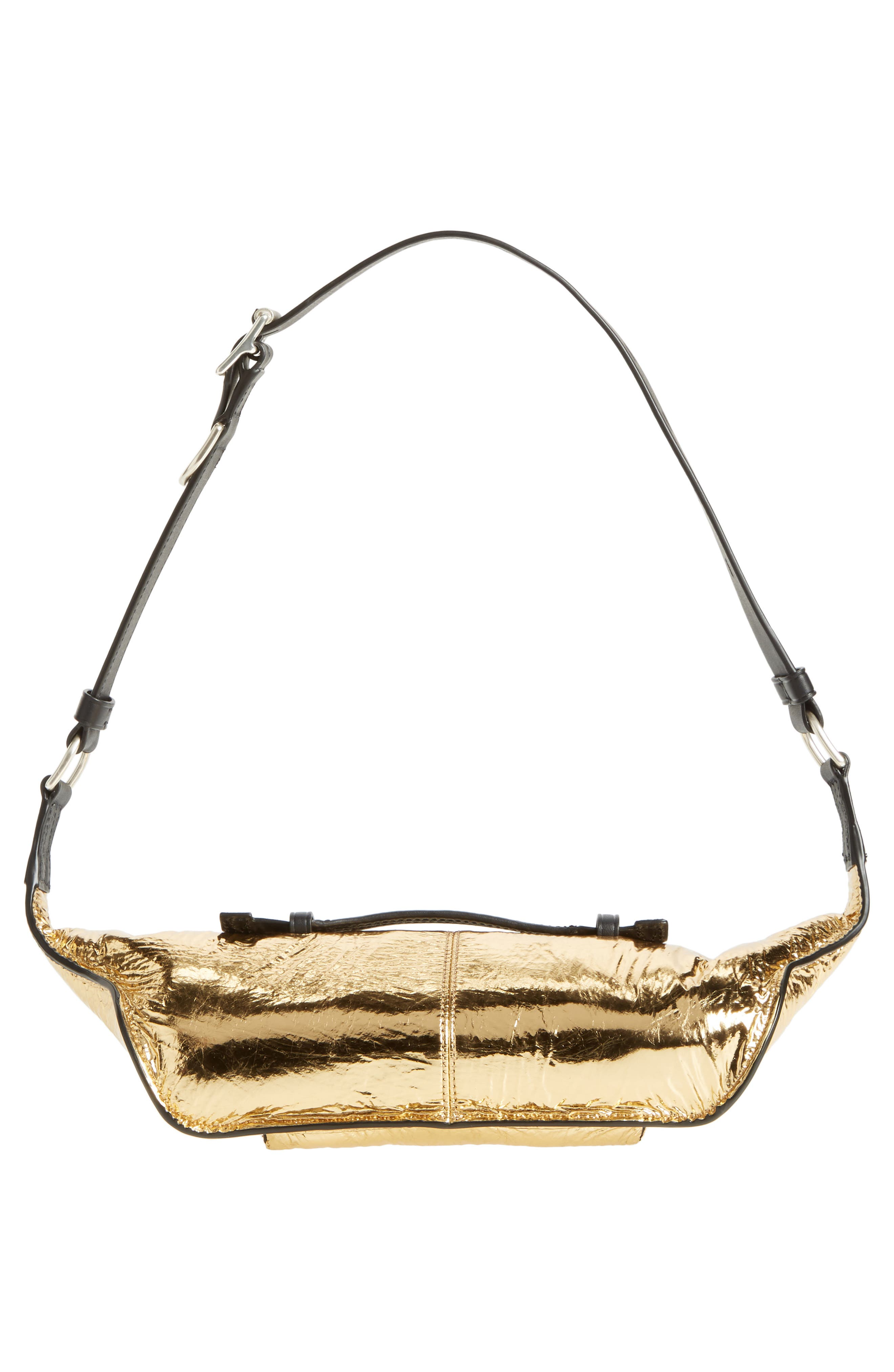 Small Elliot Leather Fanny Pack,                             Alternate thumbnail 7, color,                             Gold