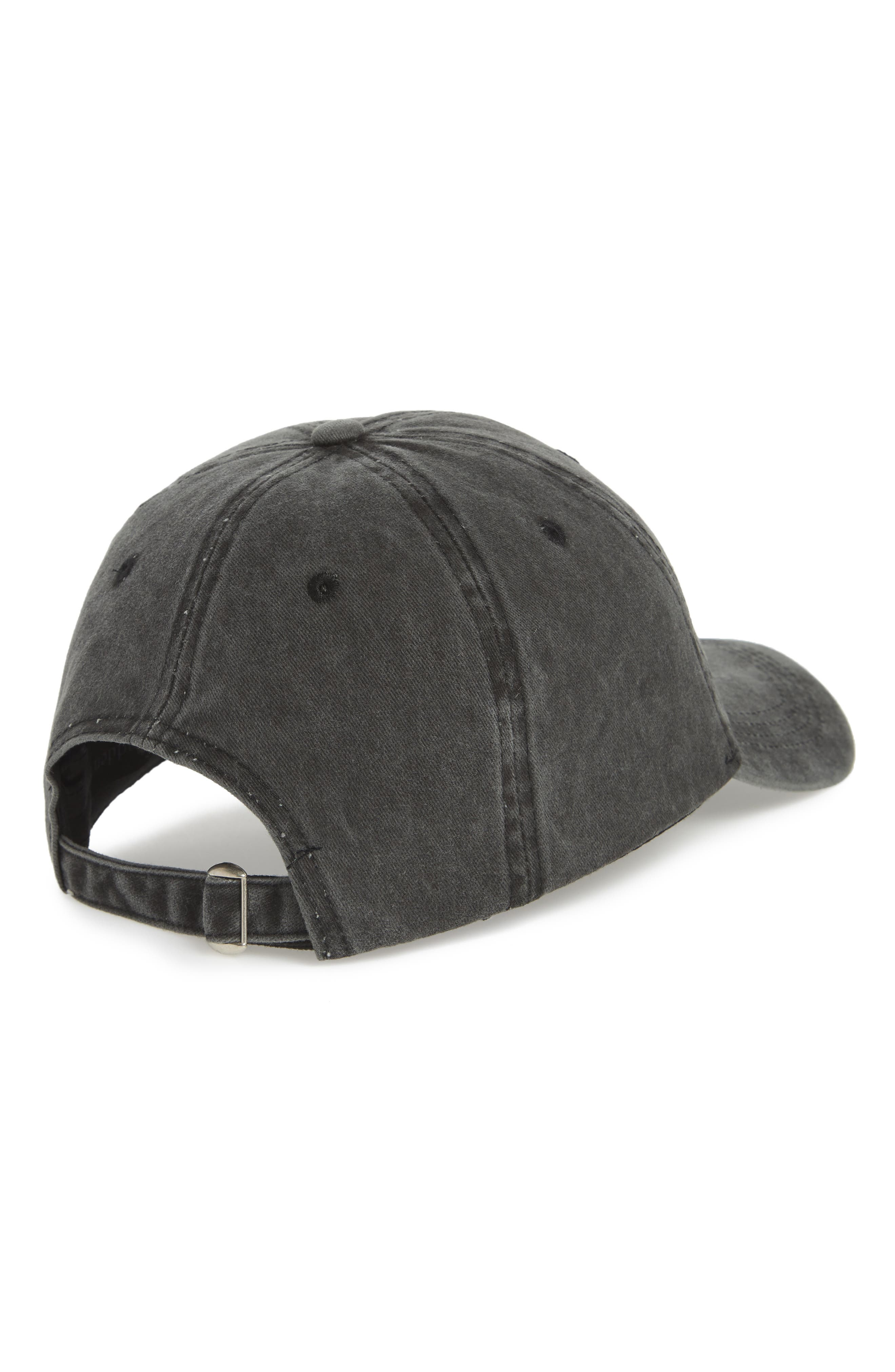USA Baseball Cap,                             Alternate thumbnail 2, color,                             Washed Black