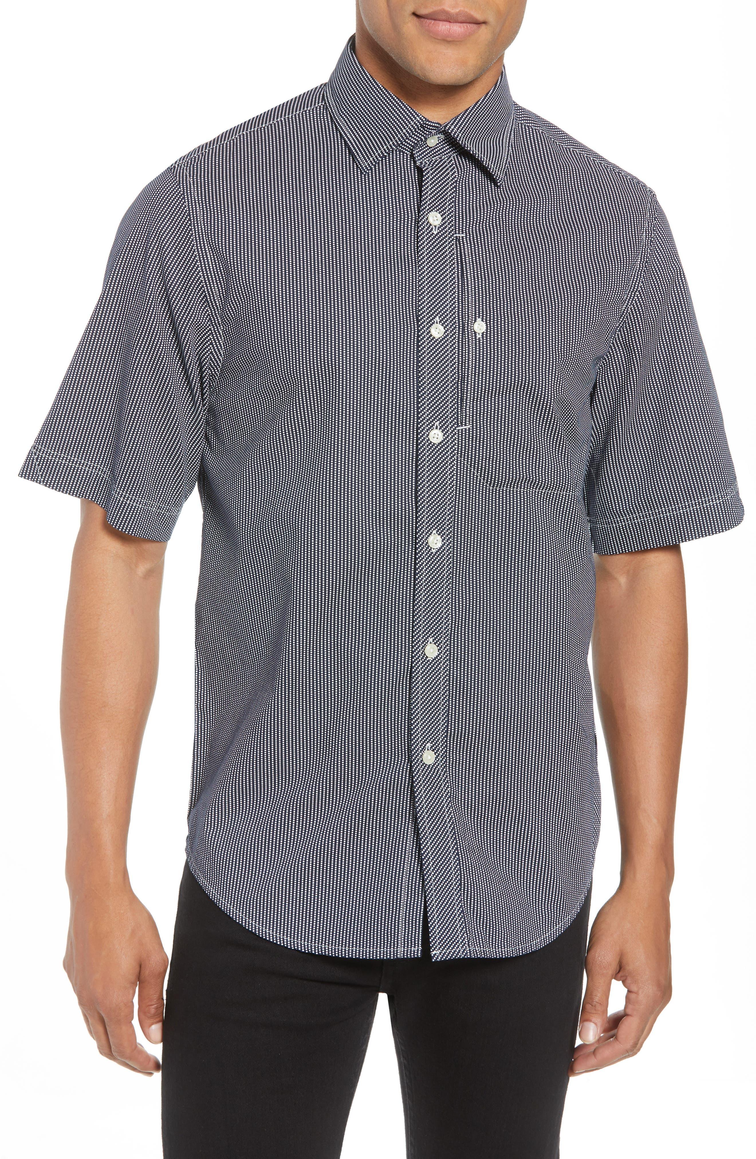 Bristum Straight Ref Shirt,                             Main thumbnail 1, color,                             Sartho Blue/ Milk