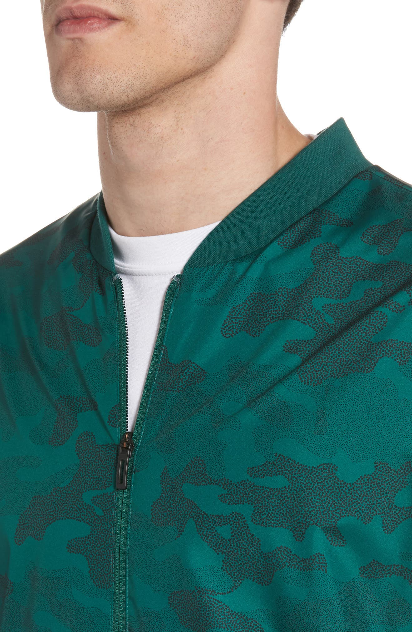 Regular Fit Track Jacket,                             Alternate thumbnail 4, color,                             Collegiate Green/ Black