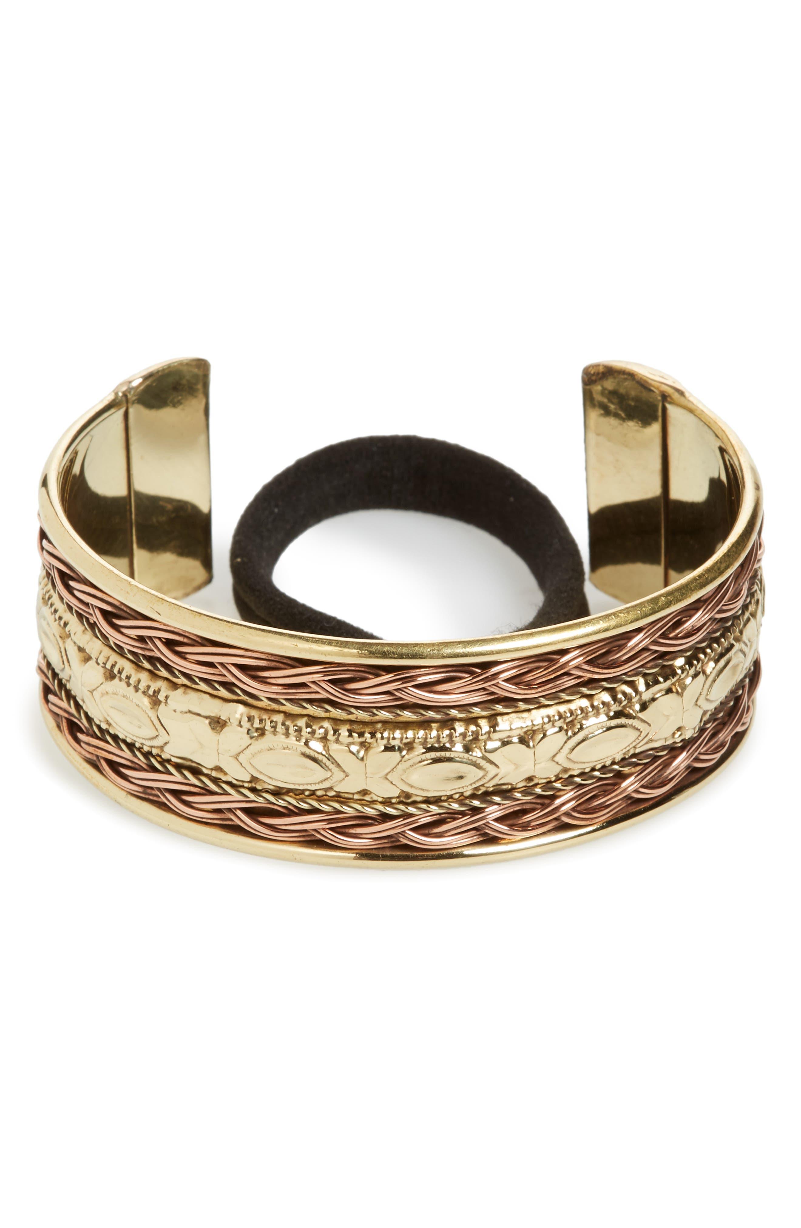 Tasha Textured Metal Bun Cuff