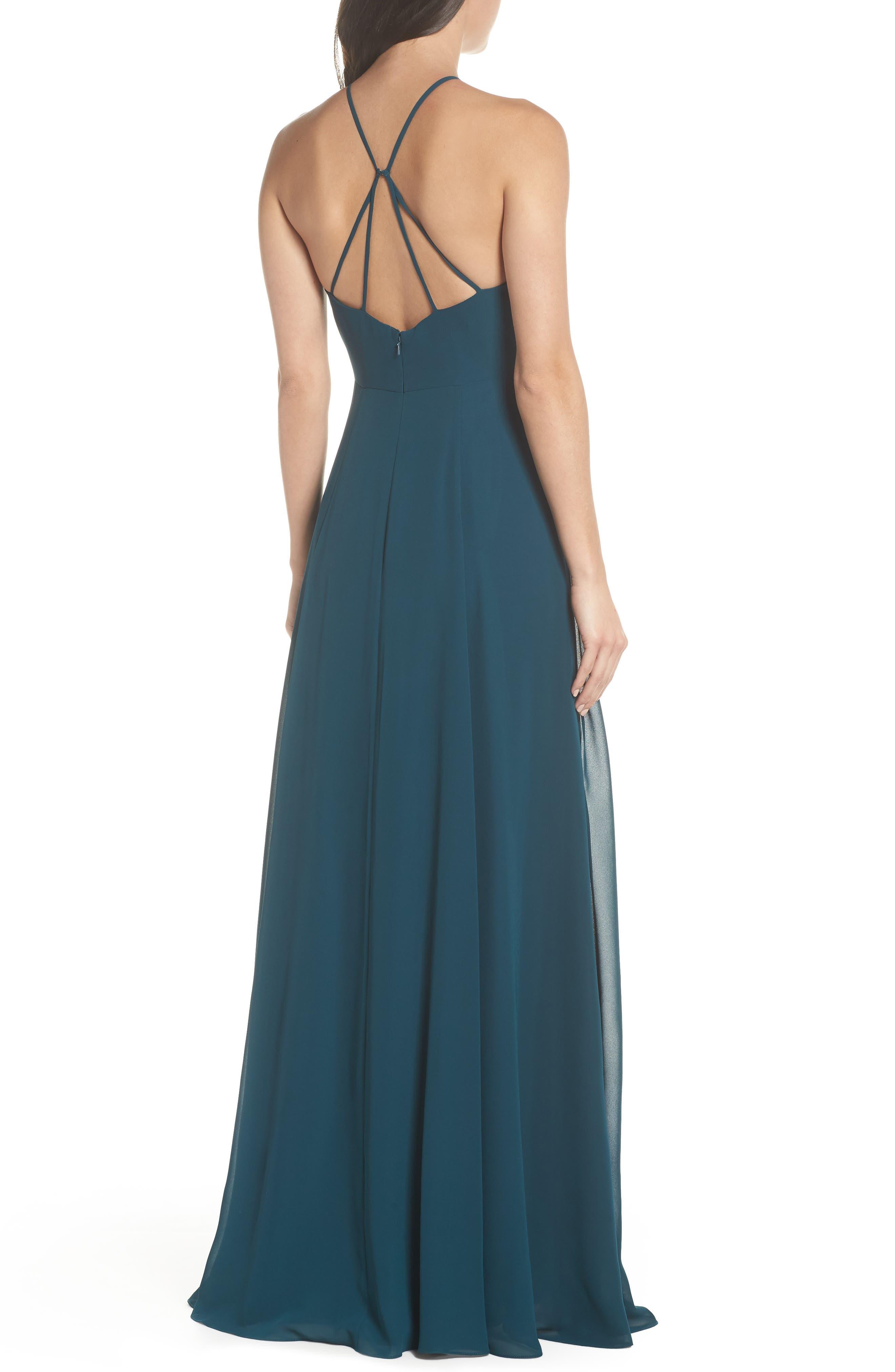 Alternate Image 2  - Jenny Yoo Kayla A-Line Halter Gown