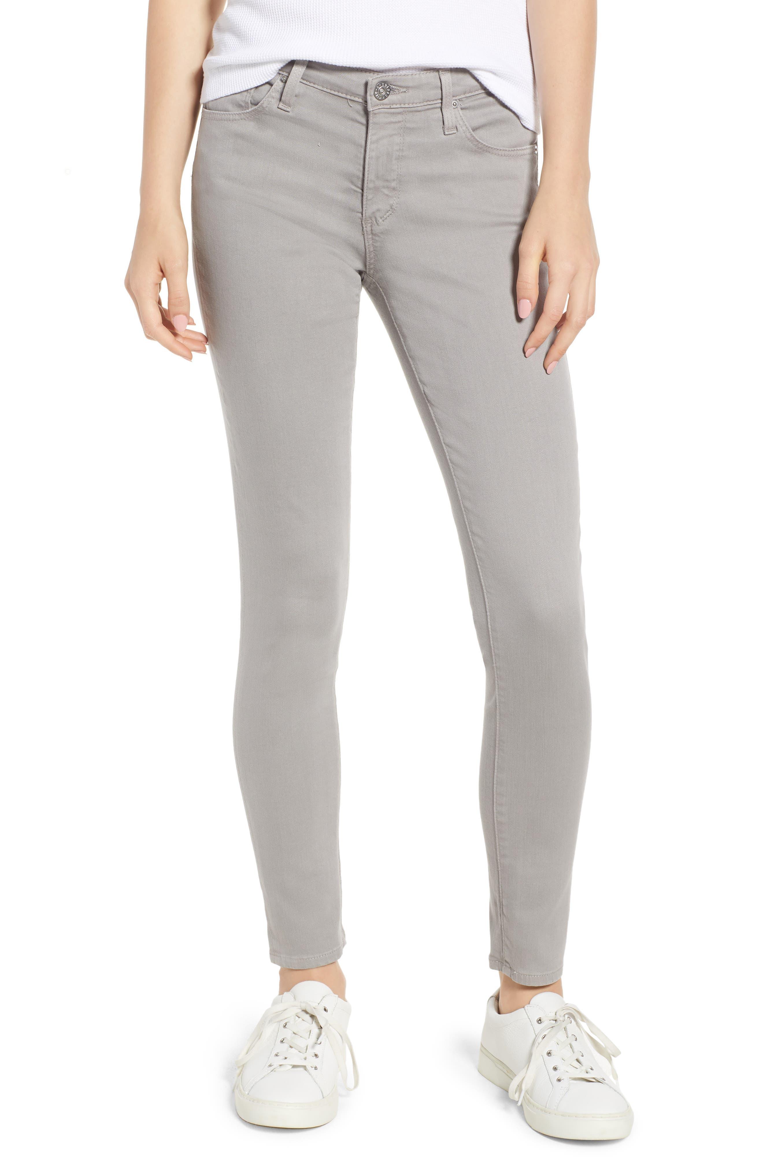 'The Legging' Ankle Jeans,                         Main,                         color, Sulfur Pebble Beach