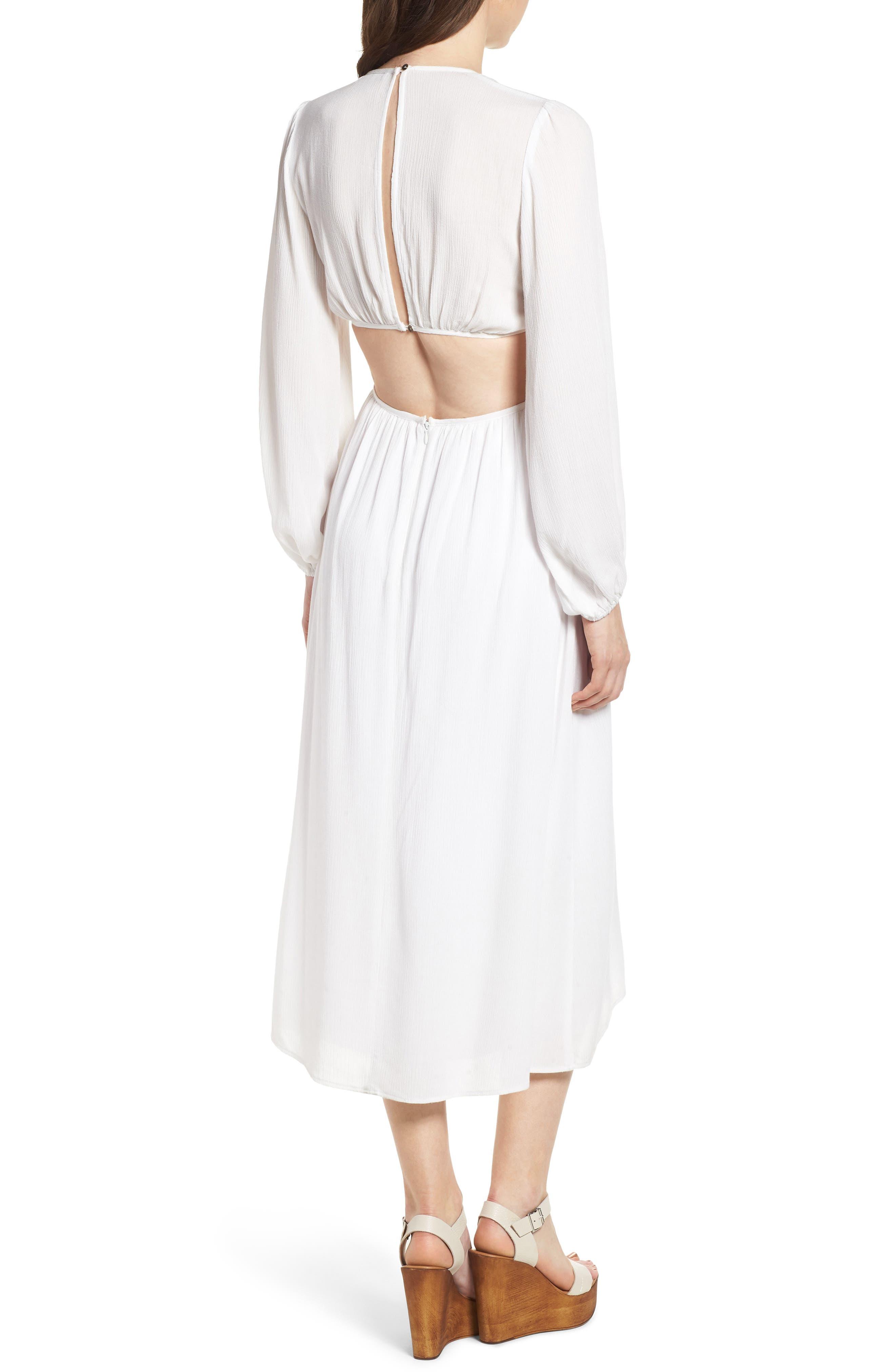 Babylon Cutout Dress,                             Alternate thumbnail 2, color,                             Ivory