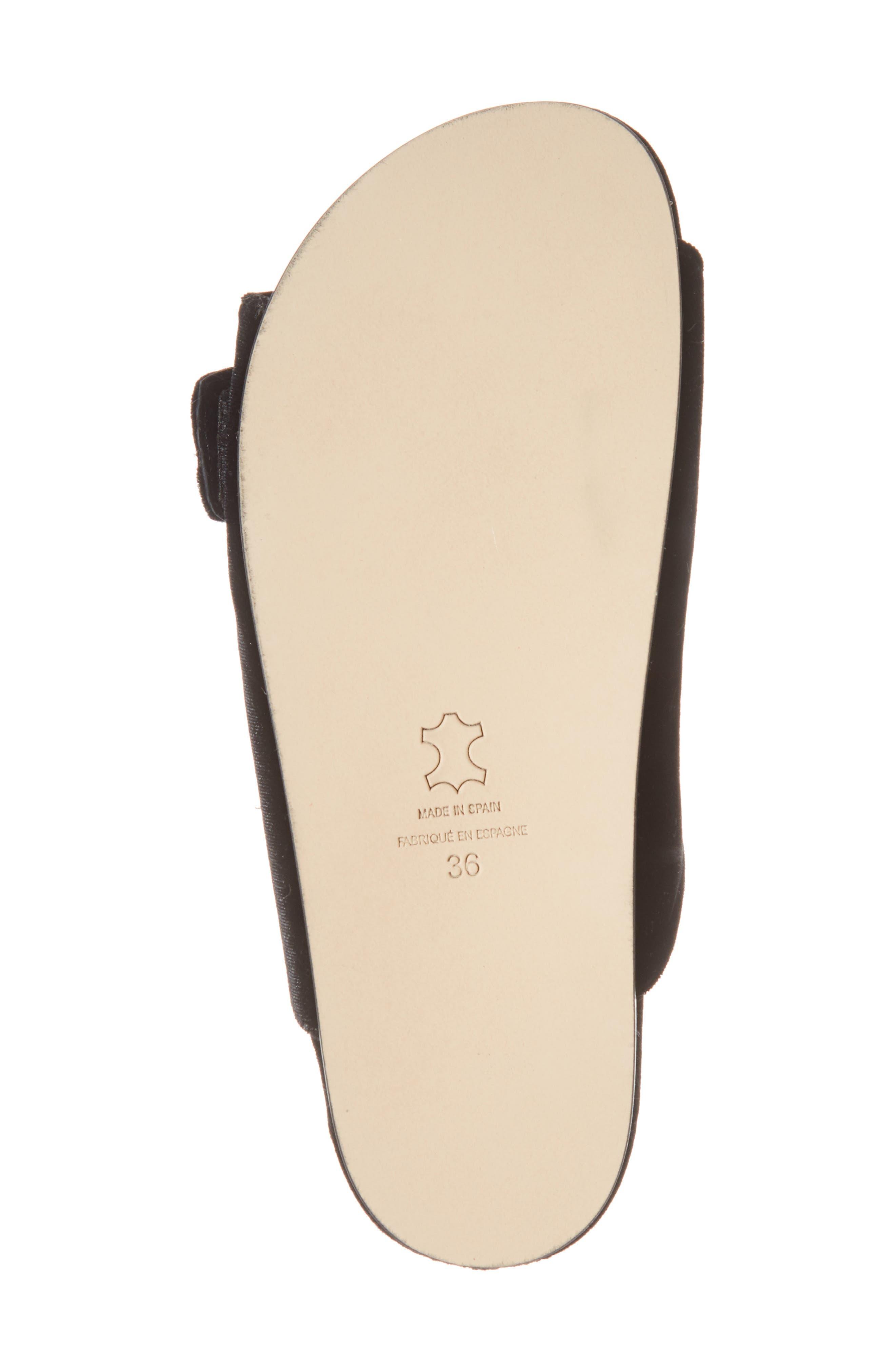 Izaro Embellished Slide Sandal,                             Alternate thumbnail 6, color,                             Black Velvet/ Silver