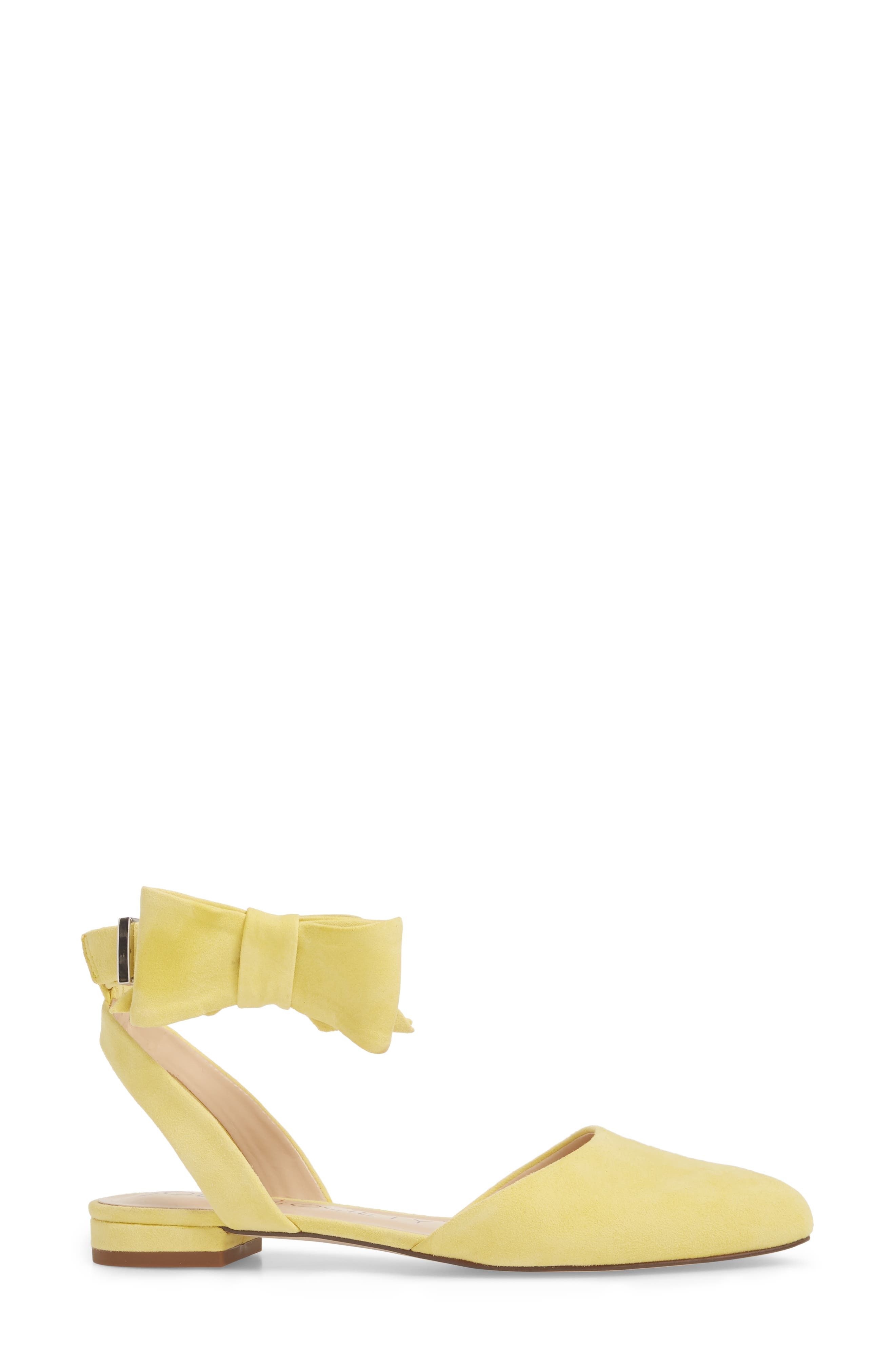 Pollie Flat,                             Alternate thumbnail 3, color,                             Pale Yellow Fabric