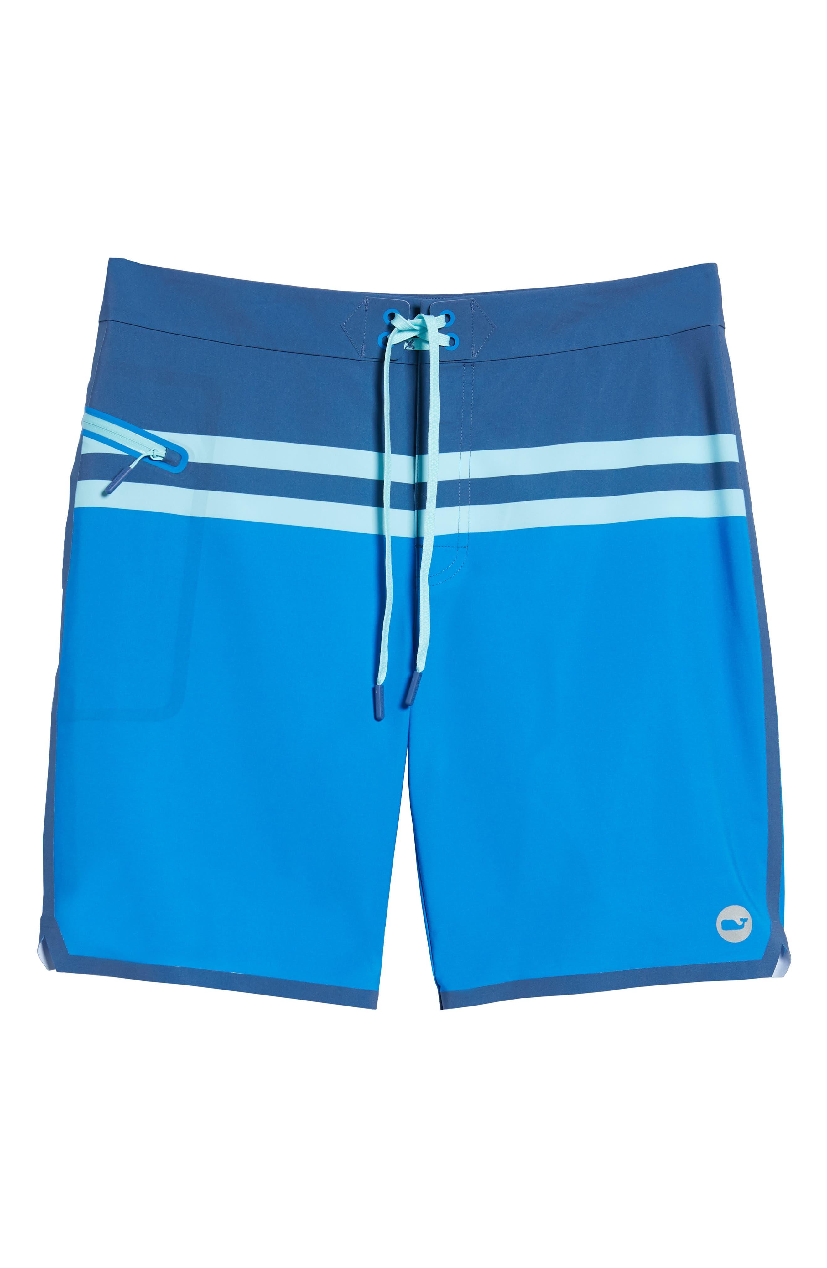 Bay Ridge Board Shorts,                             Alternate thumbnail 6, color,                             Azure