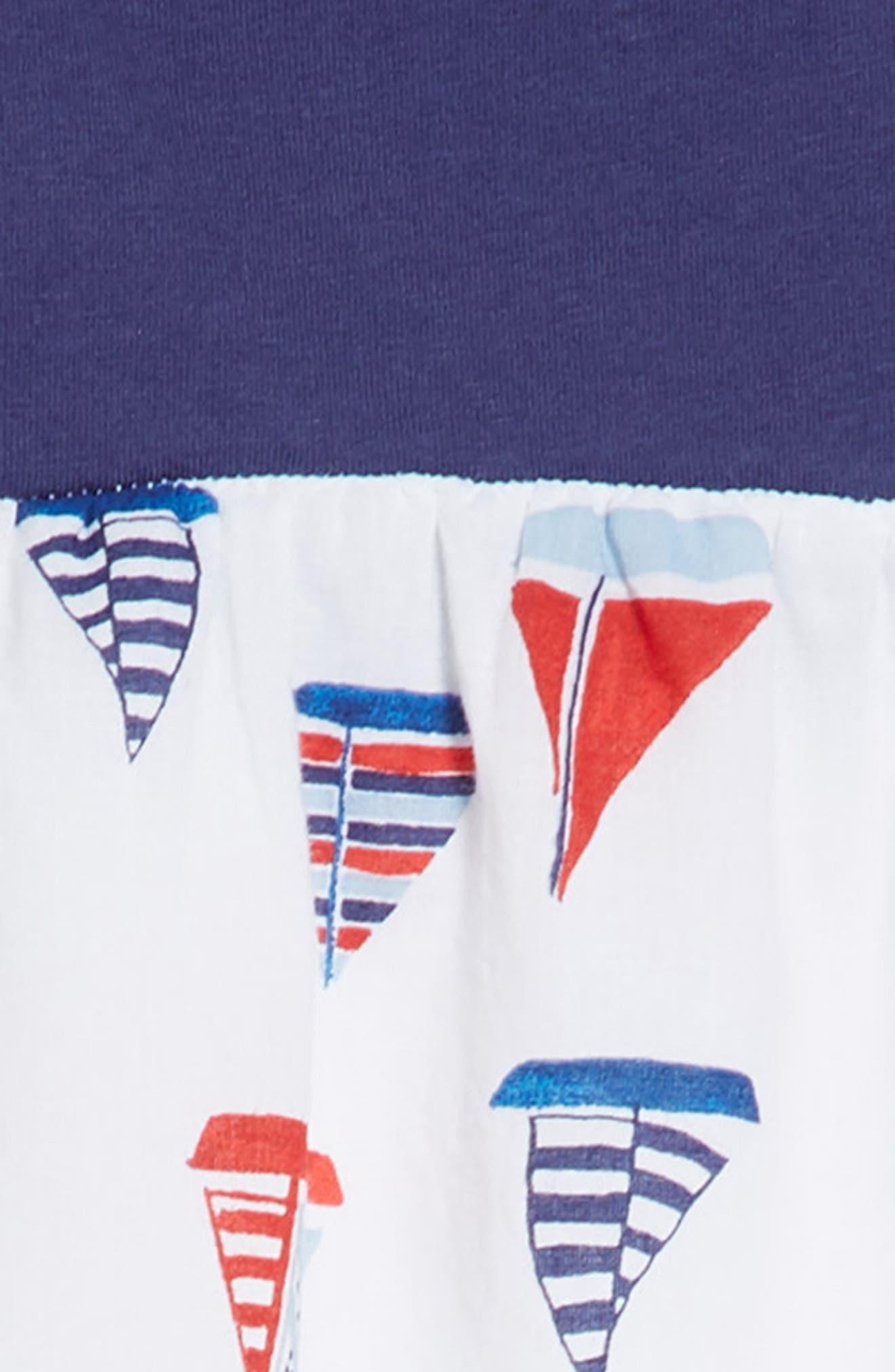 Racerback Tank Dress,                             Alternate thumbnail 3, color,                             White Multi Sailboats