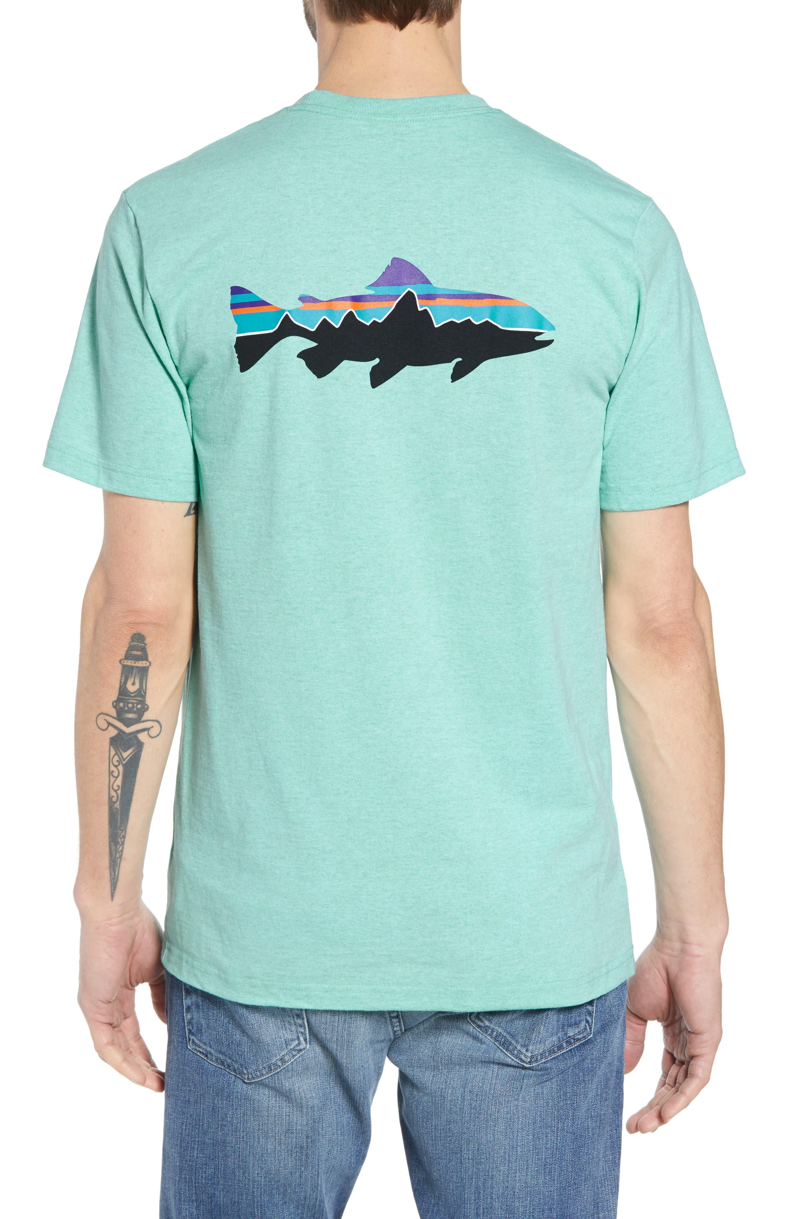 Fitz Roy Trout Crewneck T-Shirt,                             Alternate thumbnail 9, color,                             Bend Blue