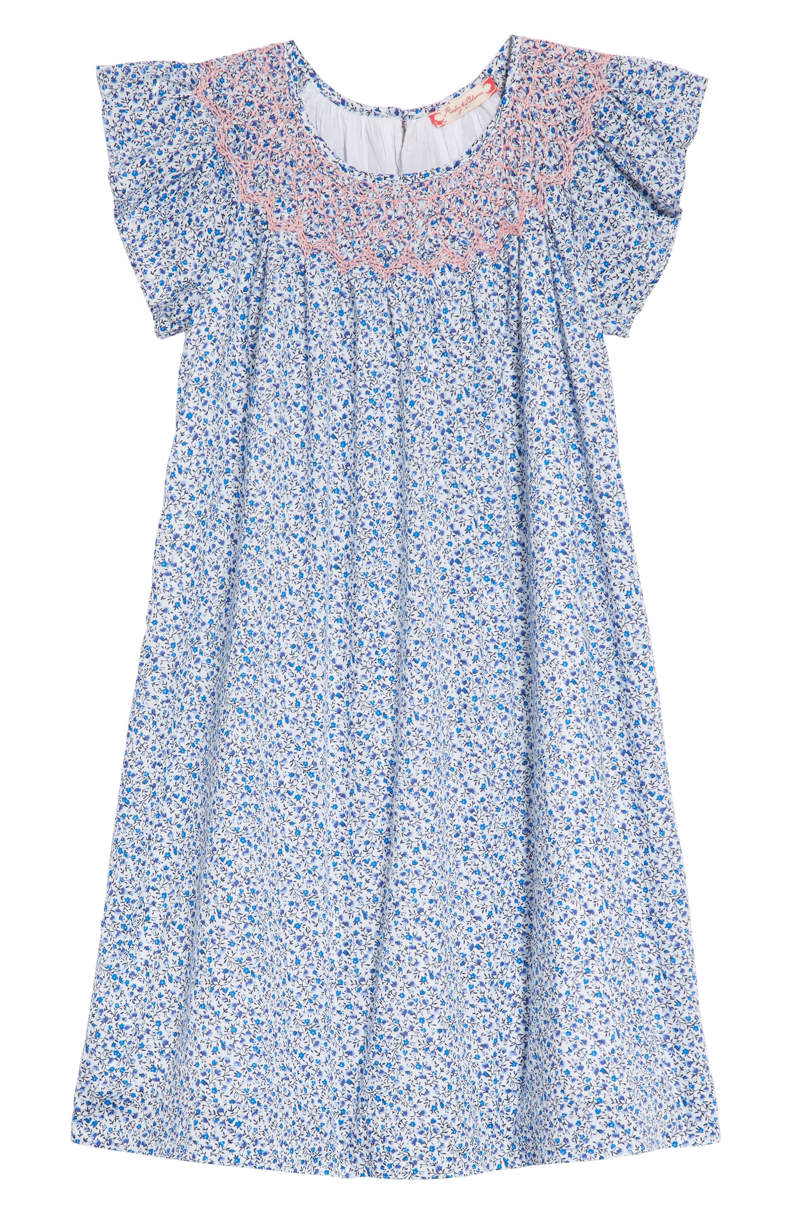 Ruby & Bloom Smocked Ditzy Dress (Toddler Girls, Little Girls & Big Girls)