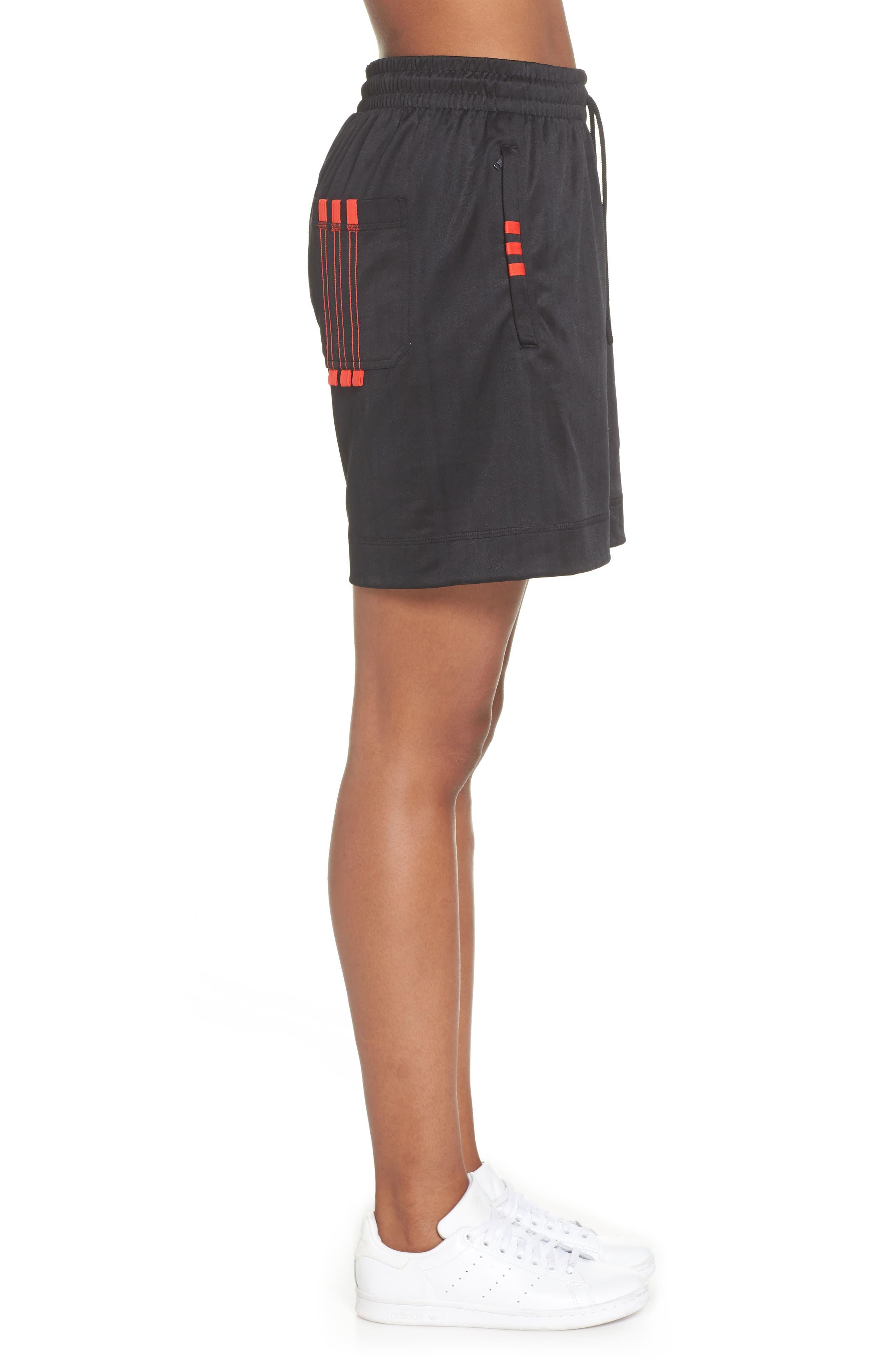 Soccer Shorts,                             Alternate thumbnail 3, color,                             Black/ Core Red