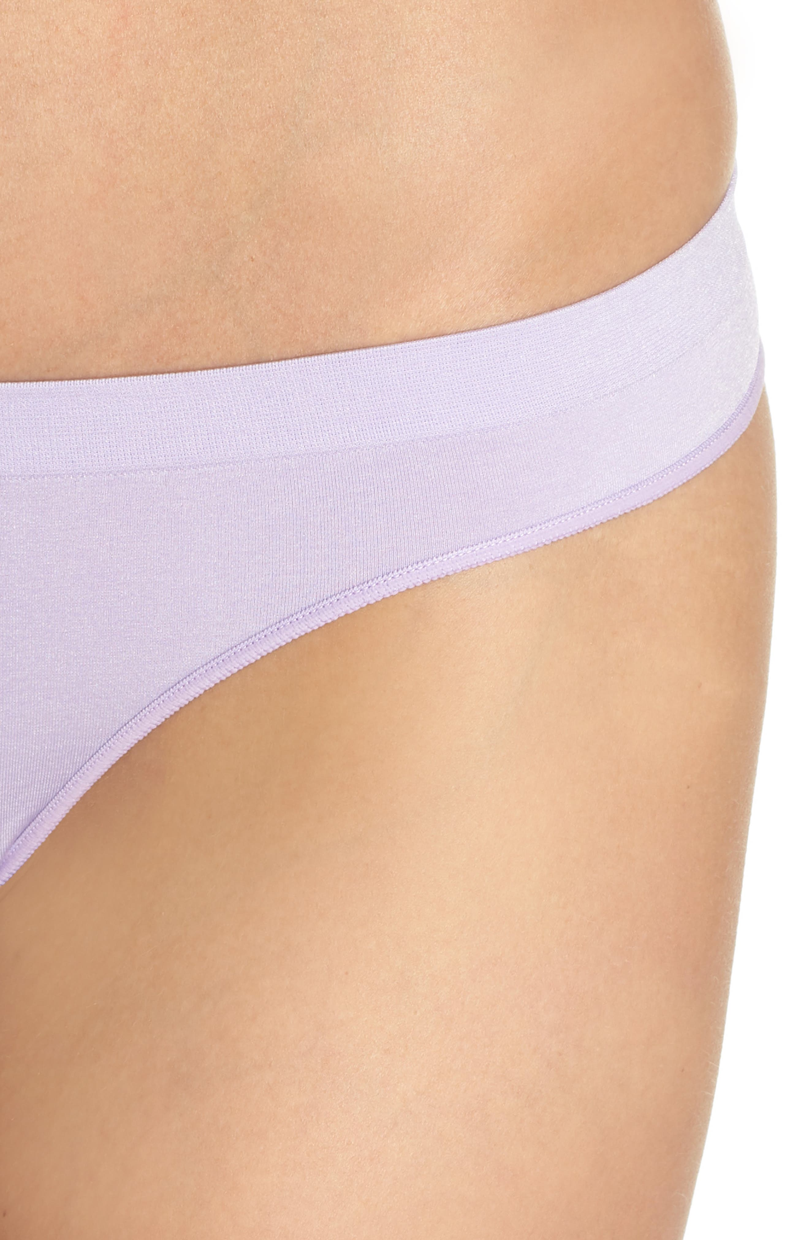 Stretch Thong,                             Alternate thumbnail 7, color,                             Purple Rose Heather