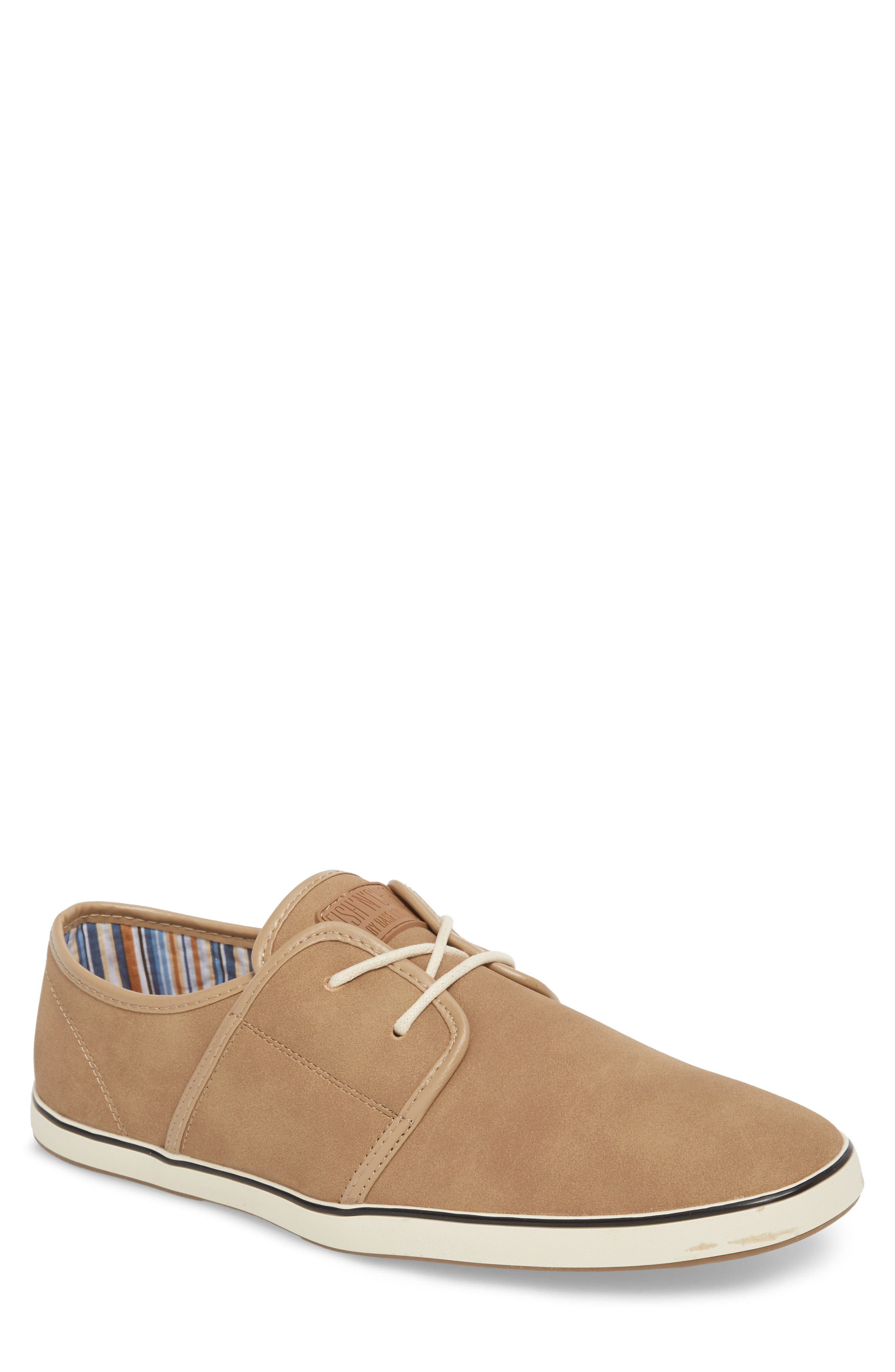 Fish 'N' Chips Surrey Low Top Sneaker,                             Main thumbnail 1, color,                             Soft Clay Faux Suede