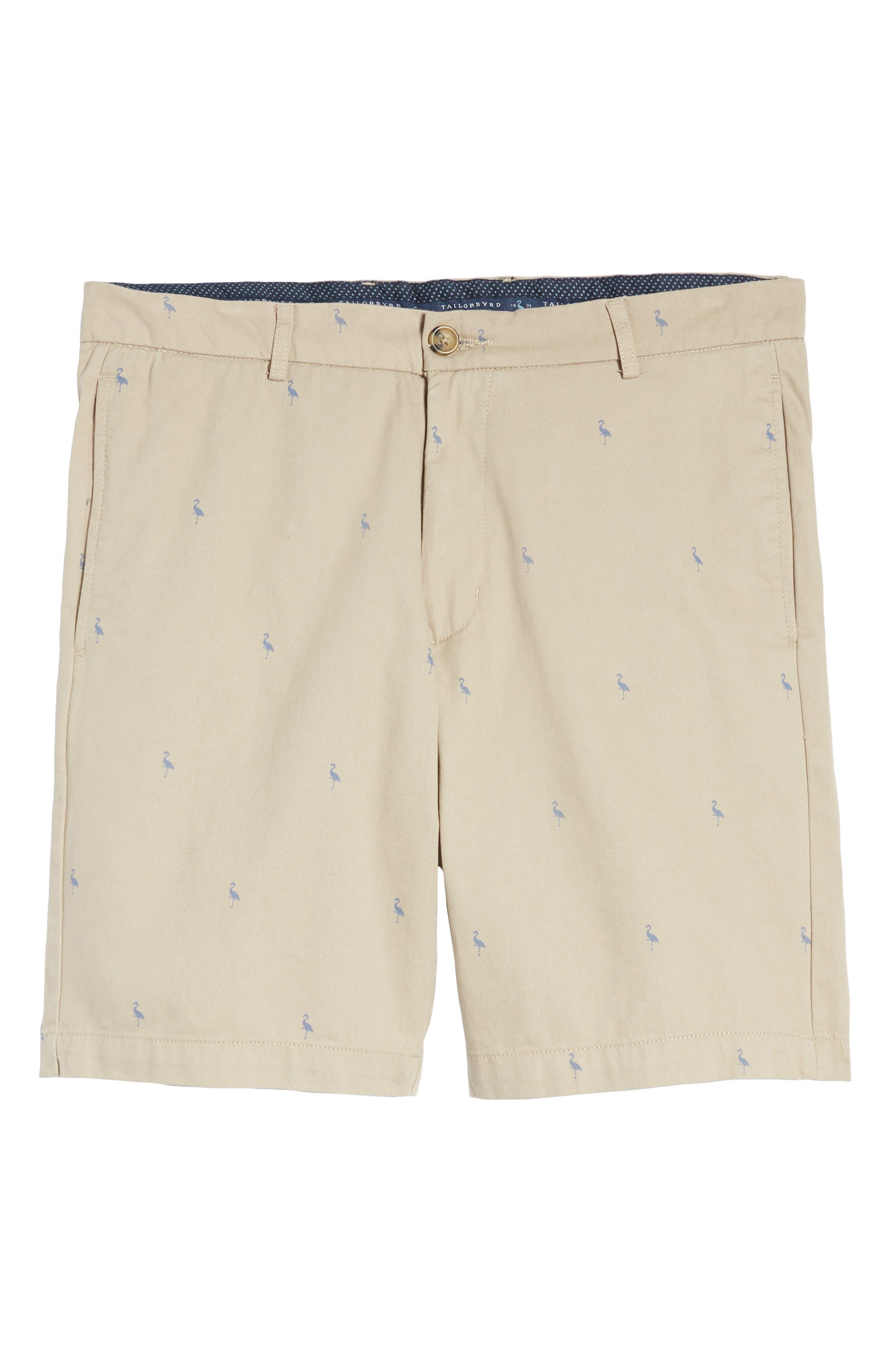 Baden Bird Regular Fit Chino Shorts,                             Alternate thumbnail 6, color,                             Dark Khaki
