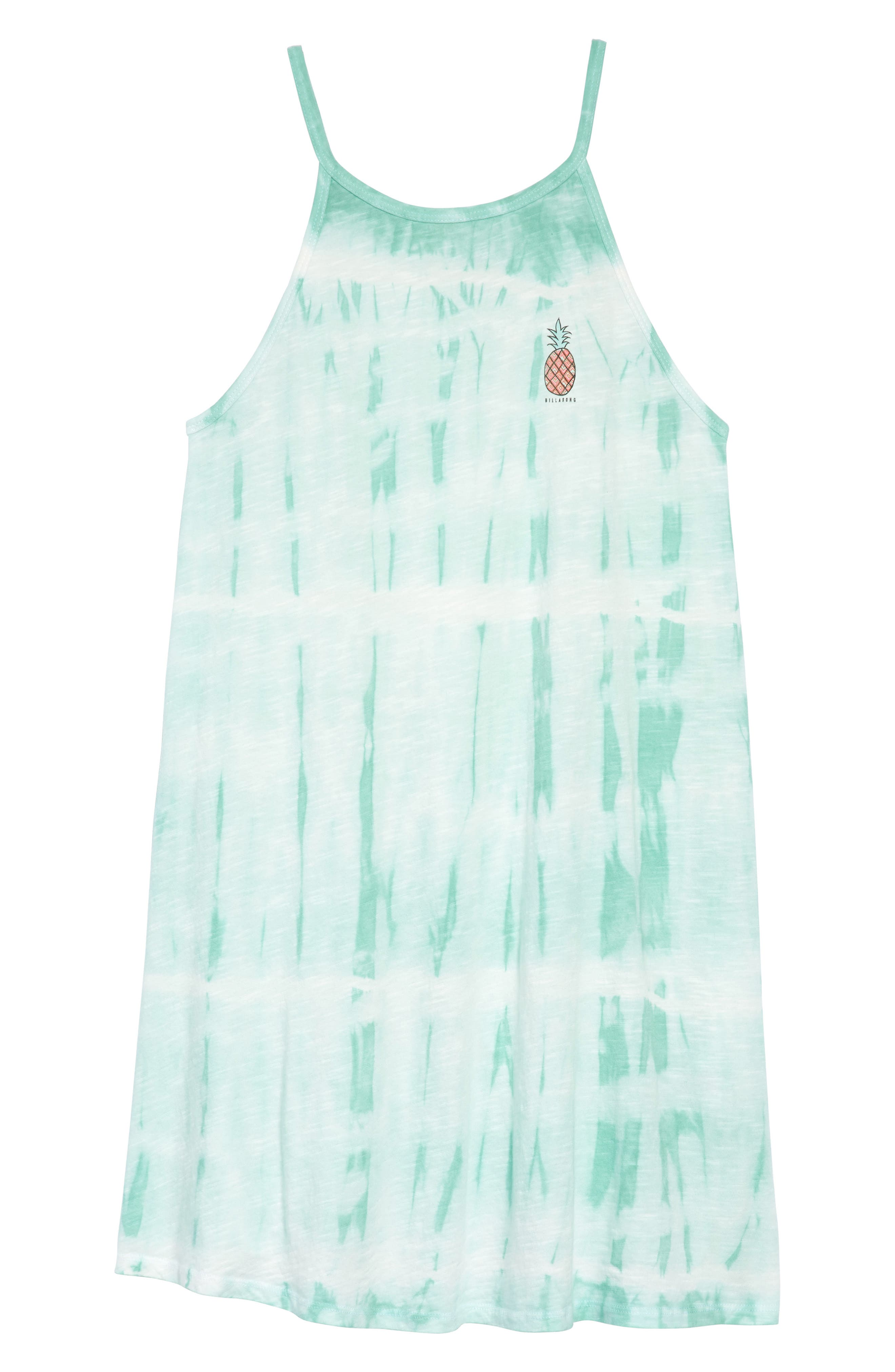 Namaste All Day Tie-Dye Dress,                             Main thumbnail 1, color,                             Beach Glass