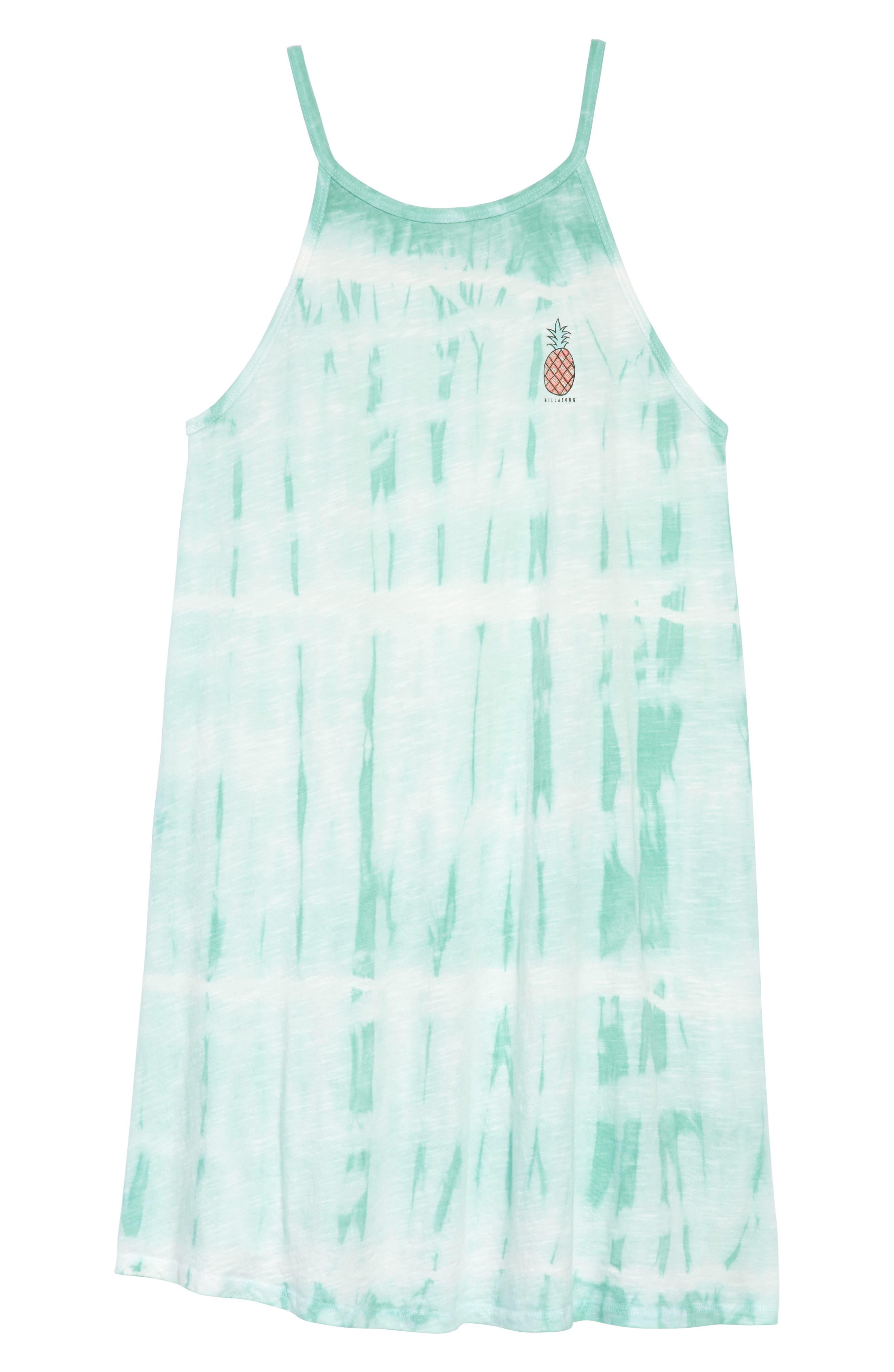 Namaste All Day Tie-Dye Dress,                         Main,                         color, Beach Glass