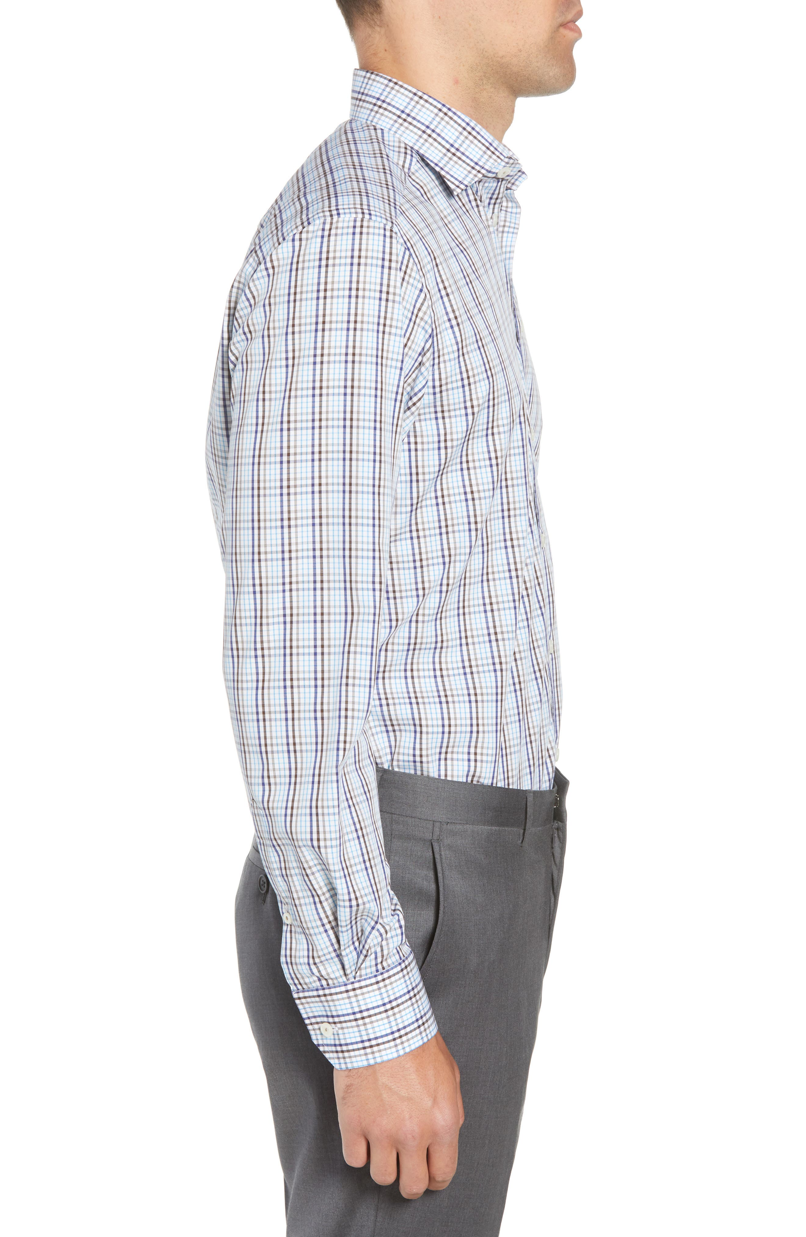 Contemporary Fit Check Dress Shirt,                             Alternate thumbnail 4, color,                             Multi