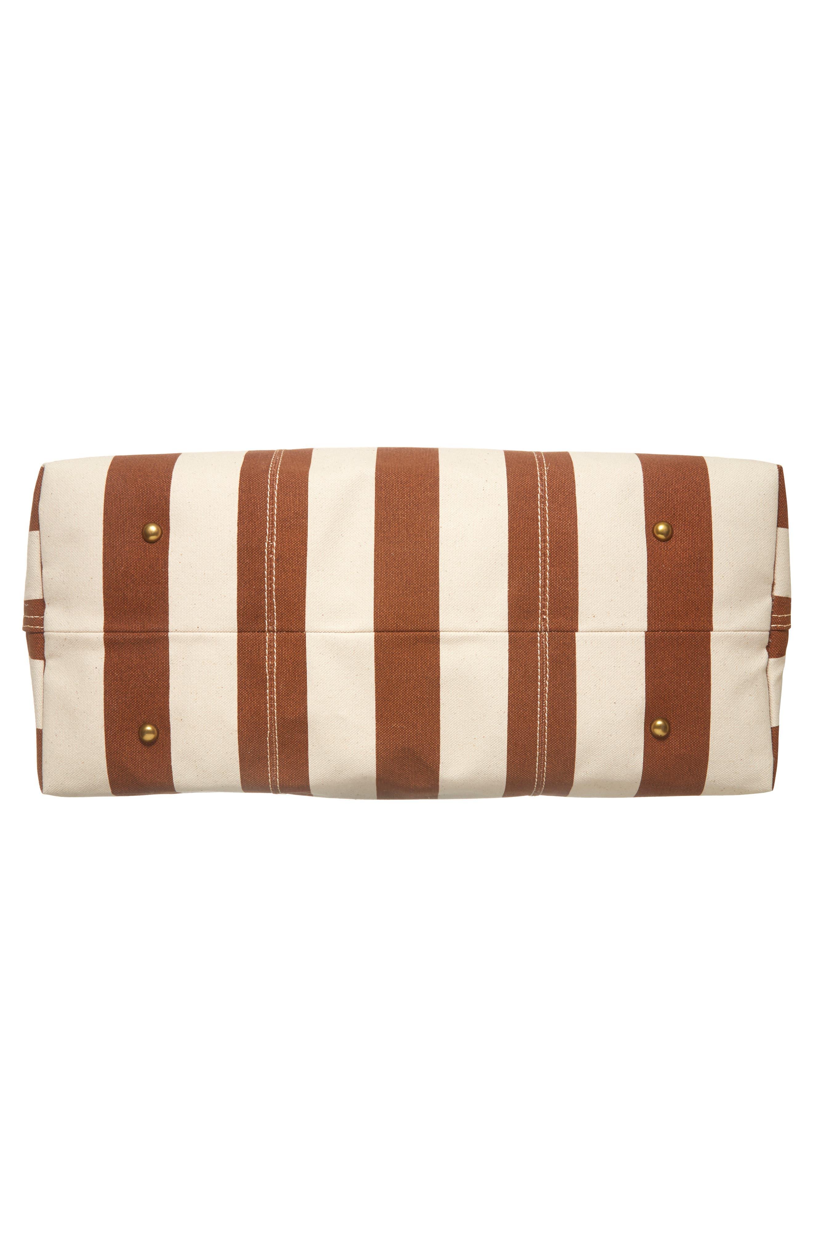 Transport Canvas Weekend Bag,                             Alternate thumbnail 6, color,                             Burnt Orange Stripe