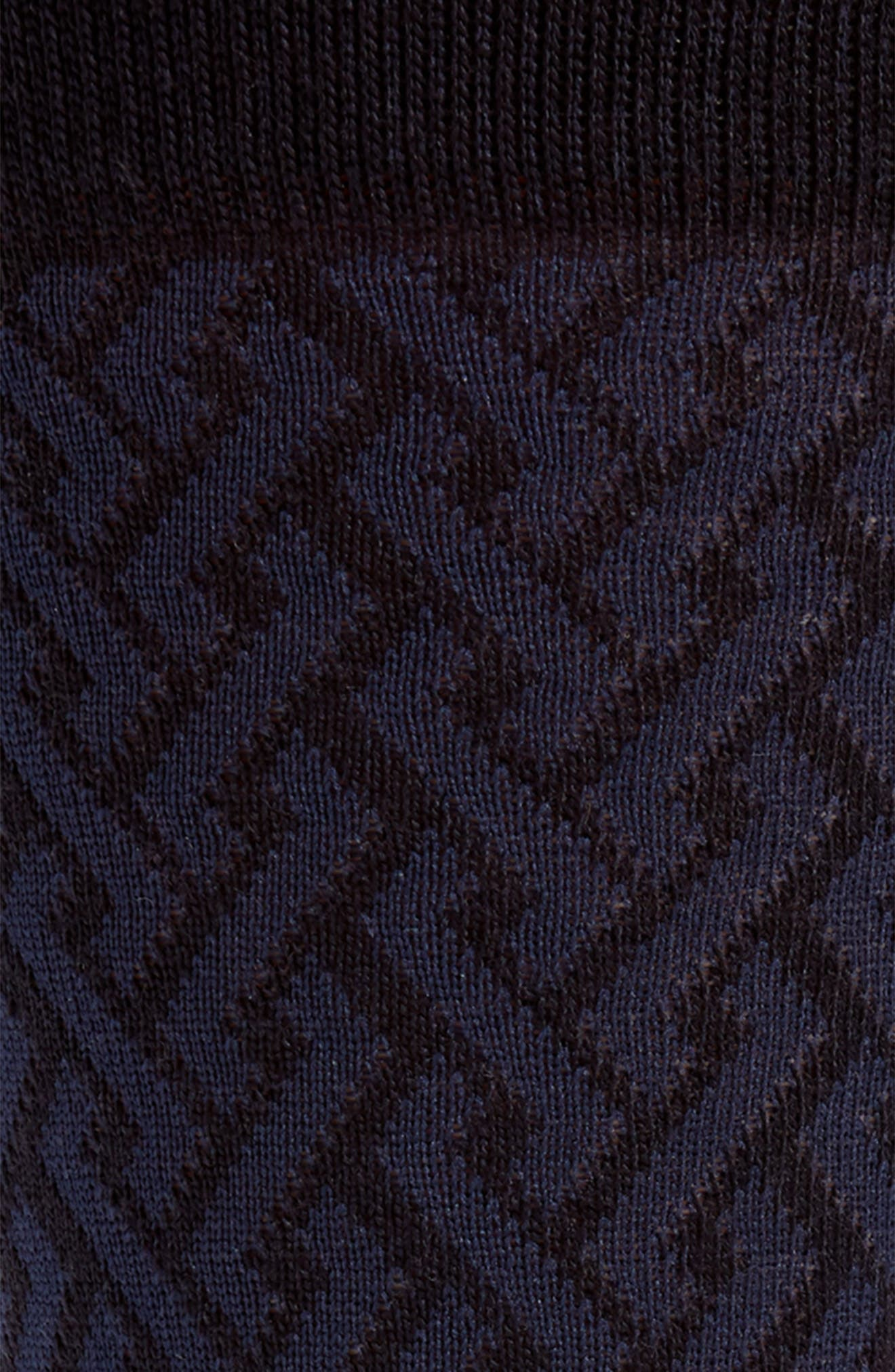 Intertwined Lines Socks,                             Alternate thumbnail 2, color,                             Navy