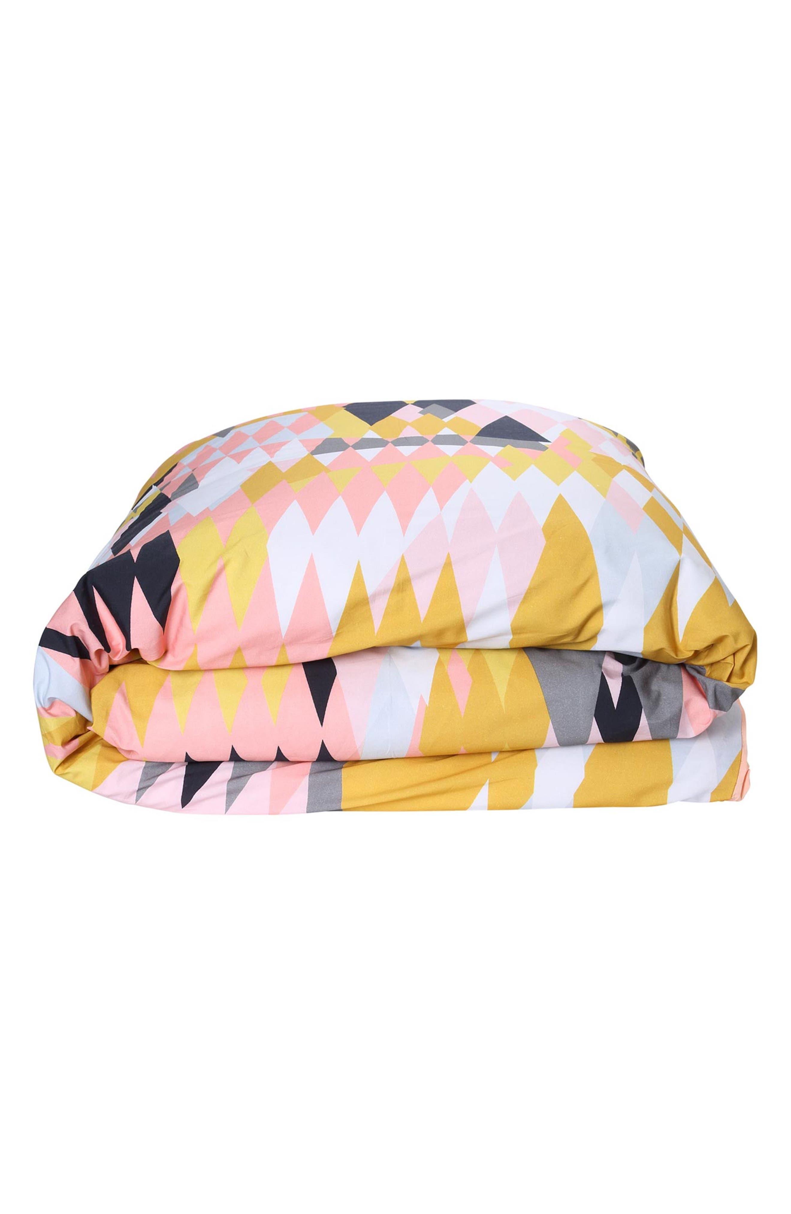 Croc Desert Cotton Duvet Cover,                         Main,                         color, Multi
