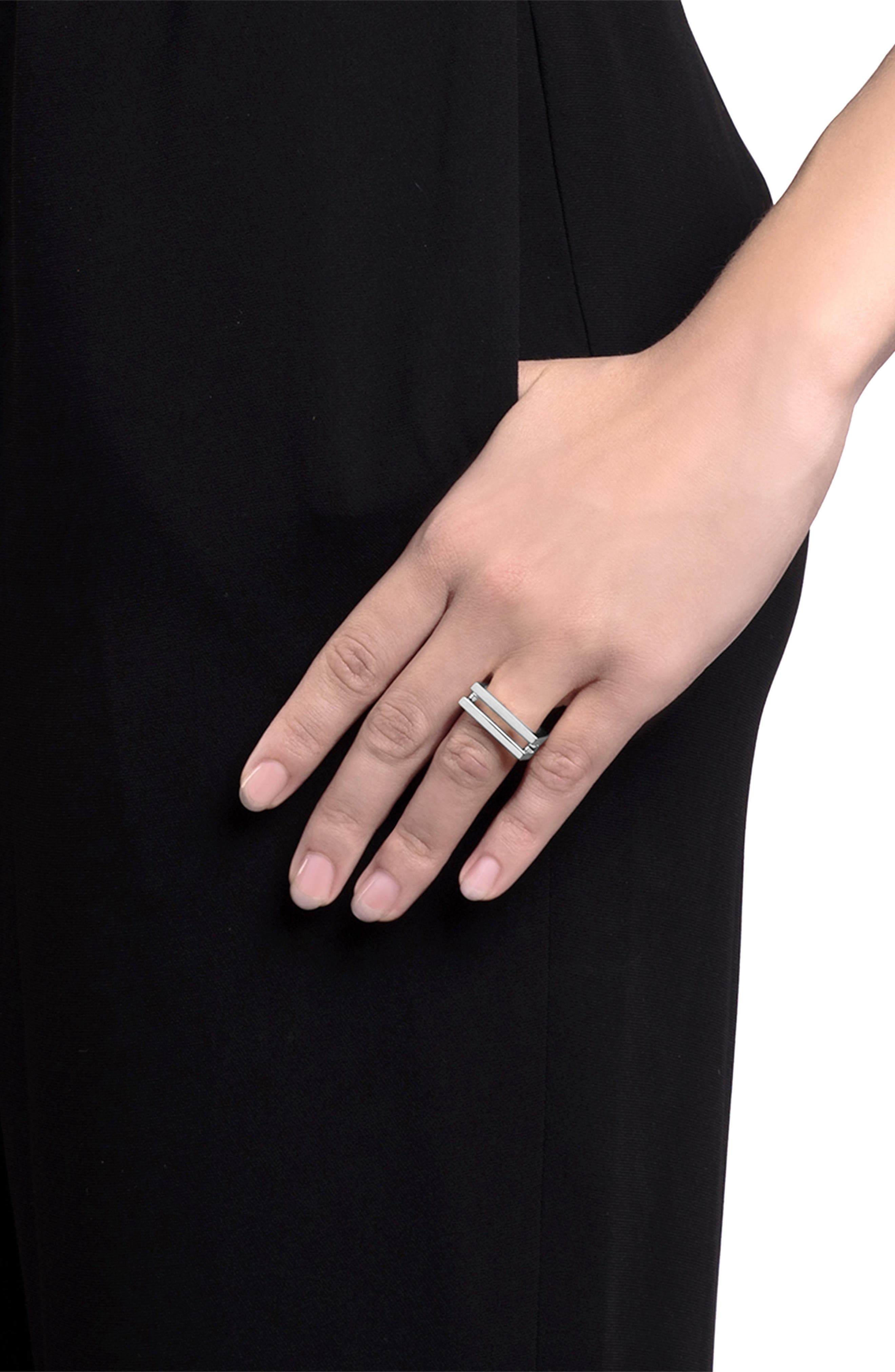 Square Openwork Ring,                             Alternate thumbnail 2, color,                             Sterling Silver