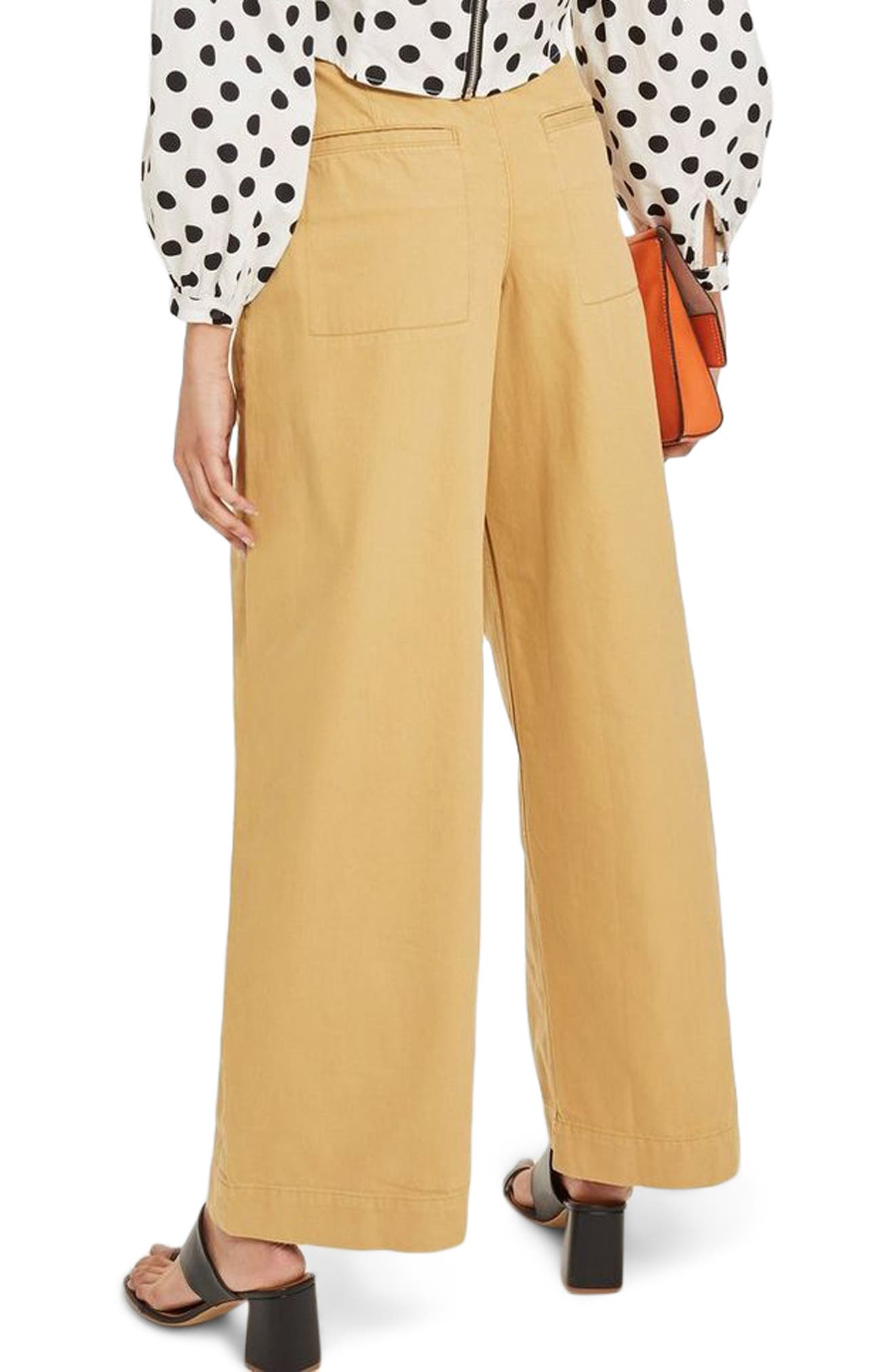 Wonder Wide Chino Trousers,                             Alternate thumbnail 2, color,                             Stone