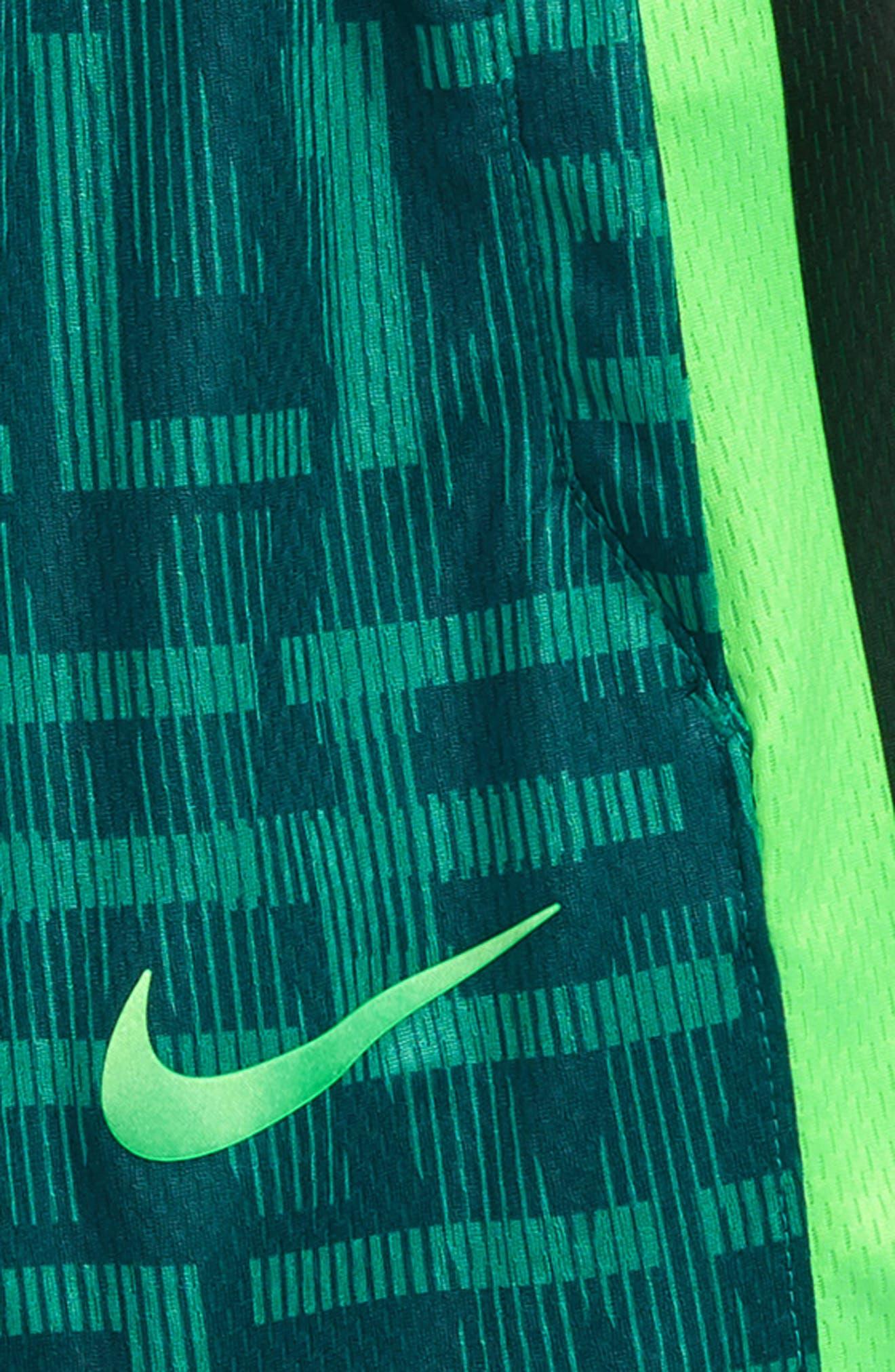 Dry Elite Basketball Shorts,                             Alternate thumbnail 2, color,                             Green Noise/ Black