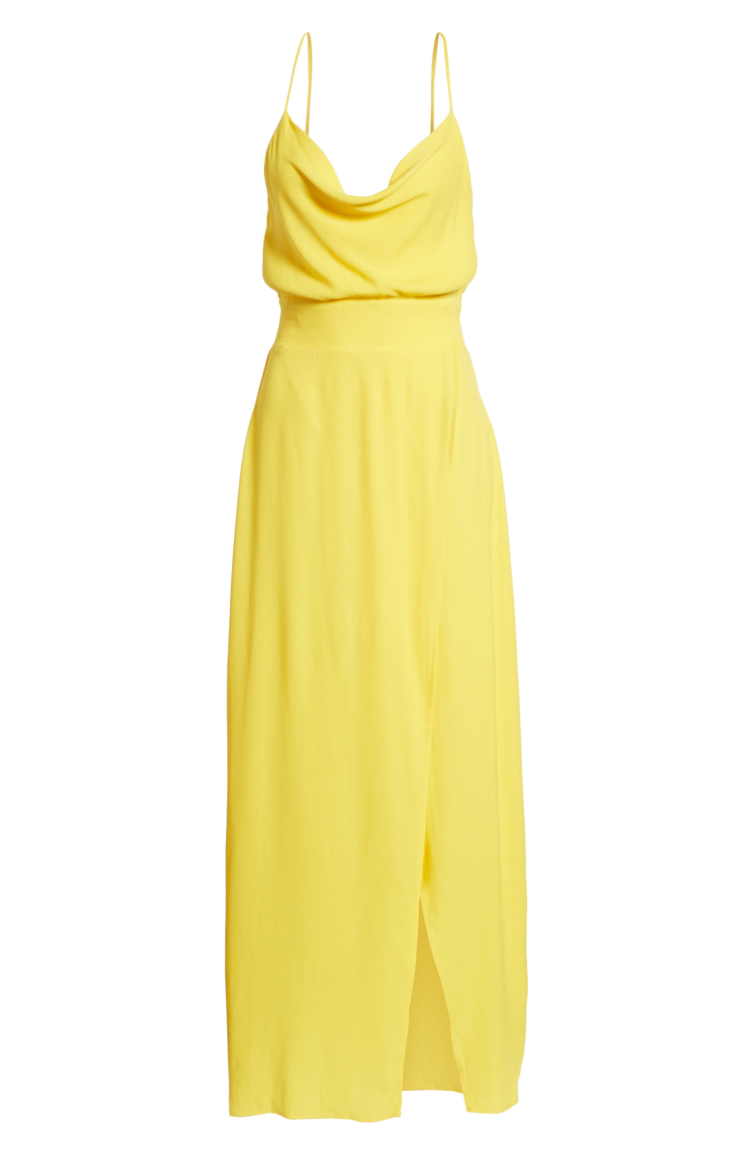 Rain Maxi Dress,                             Alternate thumbnail 7, color,                             Gold