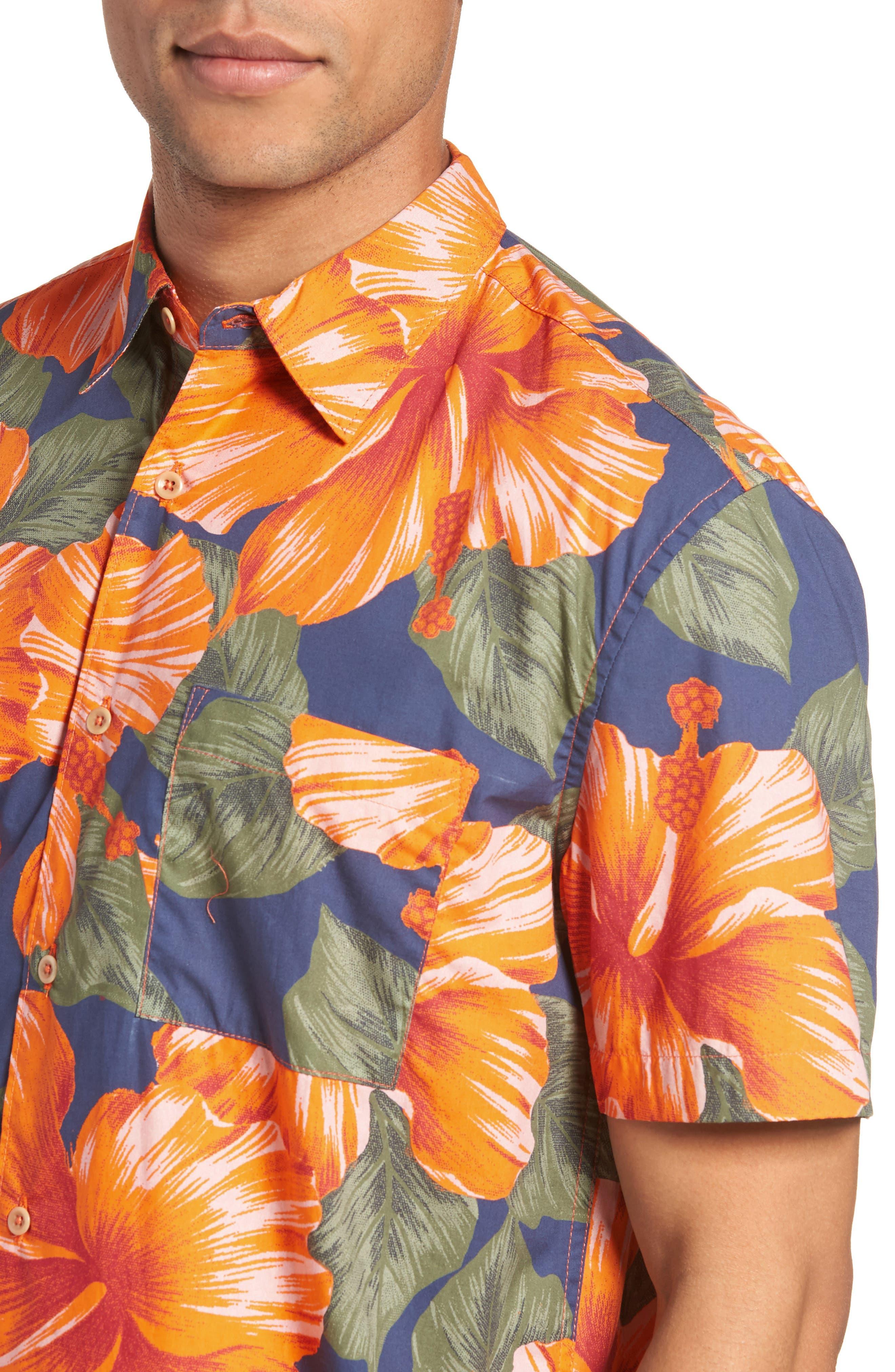 Wela Regular Fit Hawaiian Camp Shirt,                             Alternate thumbnail 2, color,                             Deep Cobalt