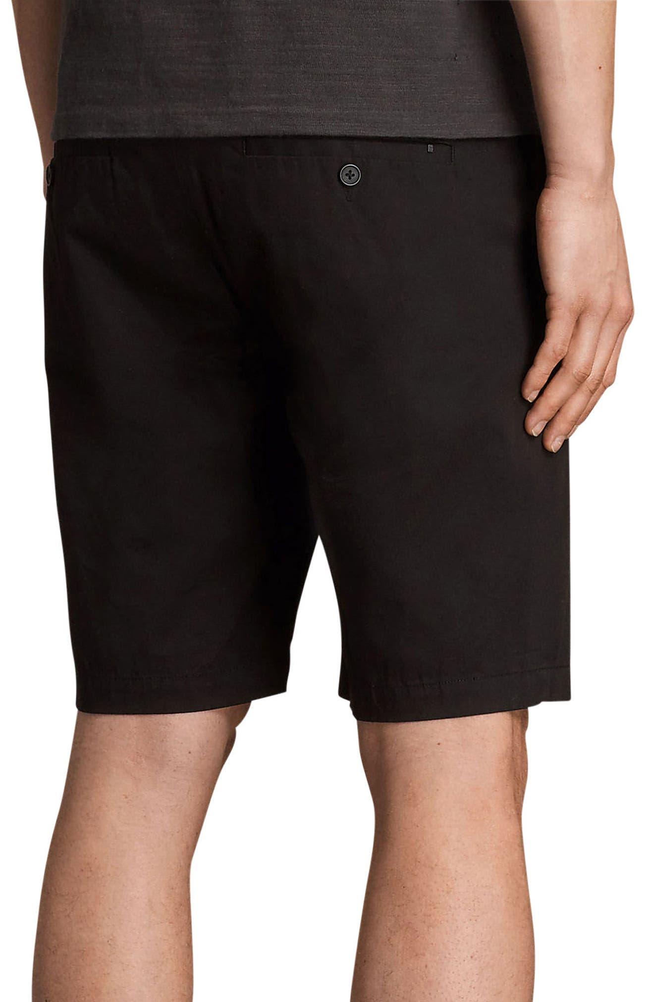 Cobalt Slim Fit Cotton Shorts,                             Alternate thumbnail 2, color,                             Black