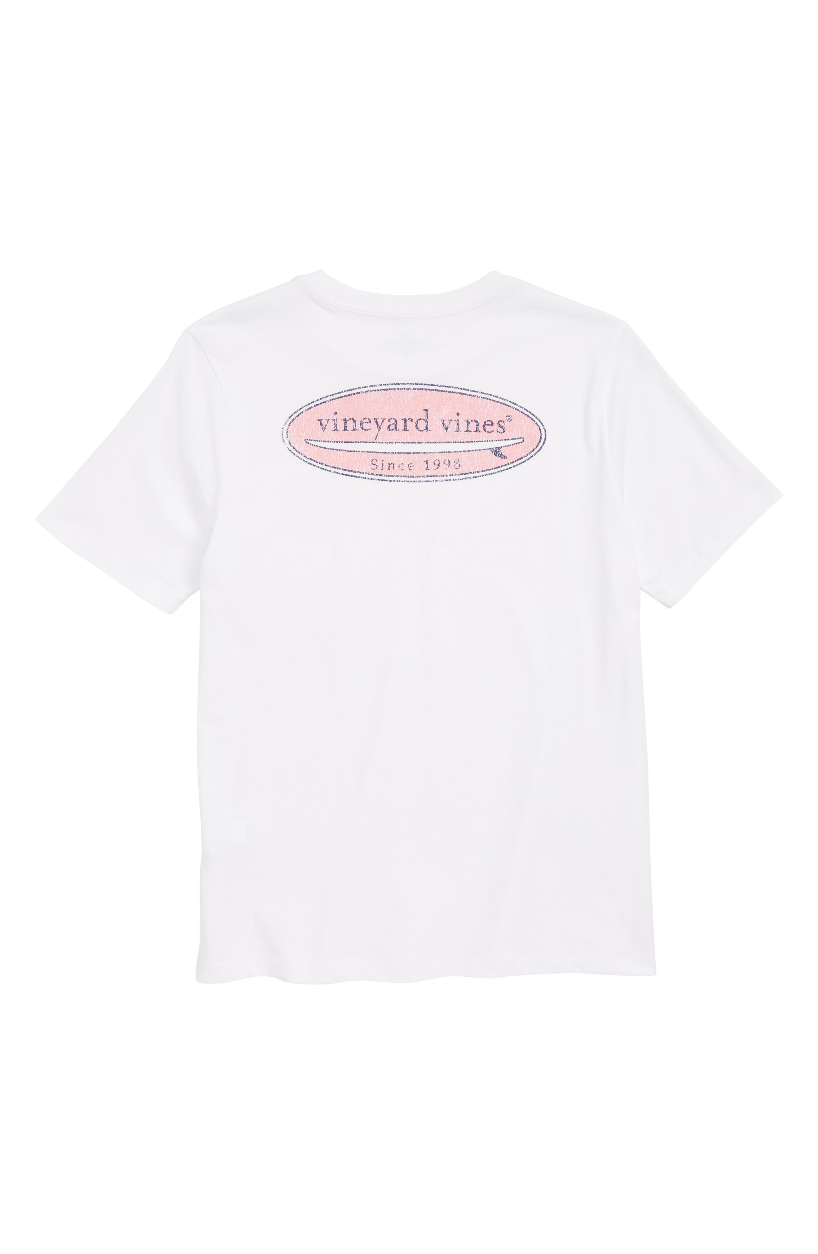 Surf Logo Pocket T-Shirt,                             Alternate thumbnail 3, color,                             White Cap