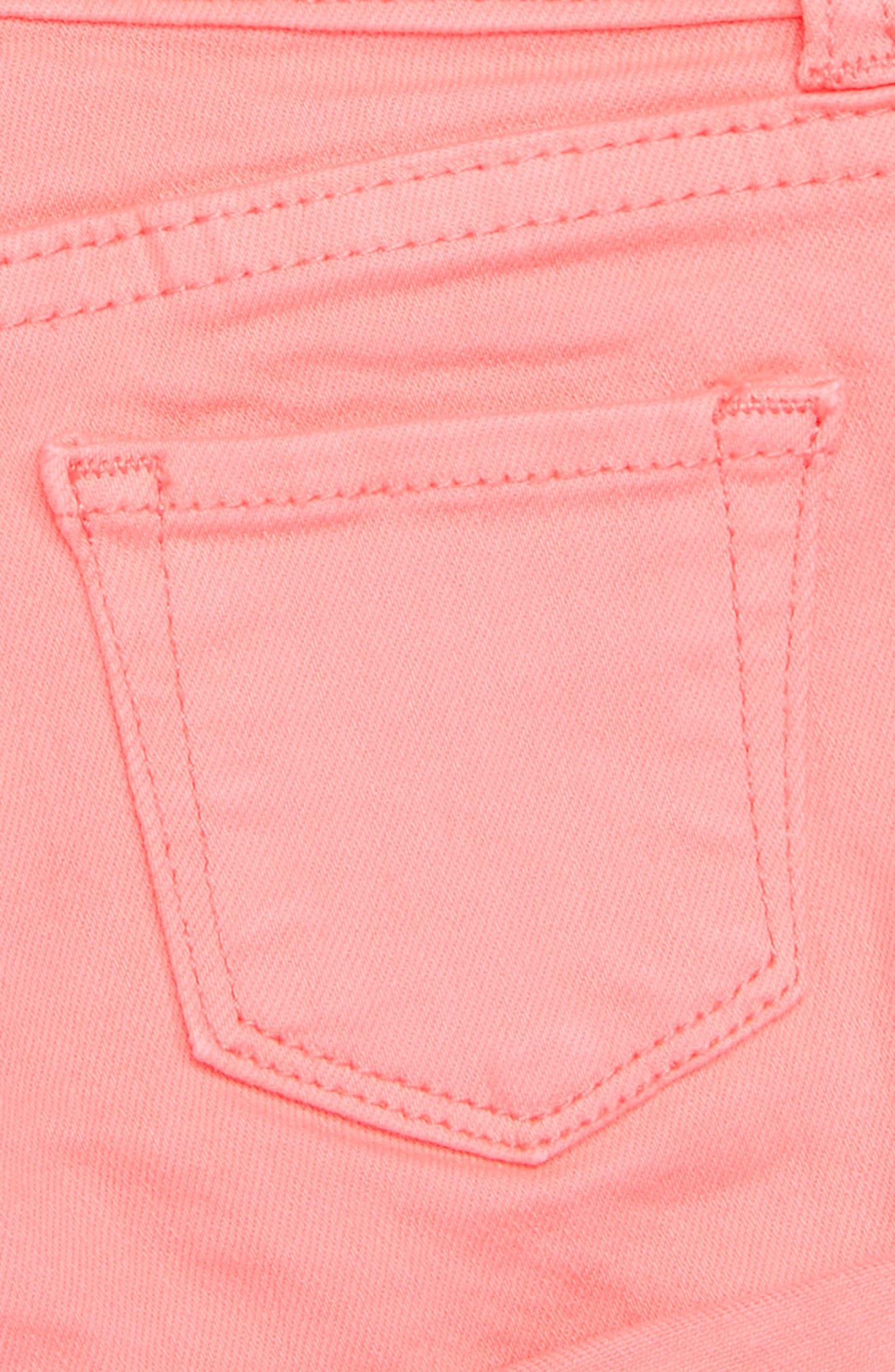 Griffin Stretch Cotton Shorts,                             Alternate thumbnail 3, color,                             Neon Coral