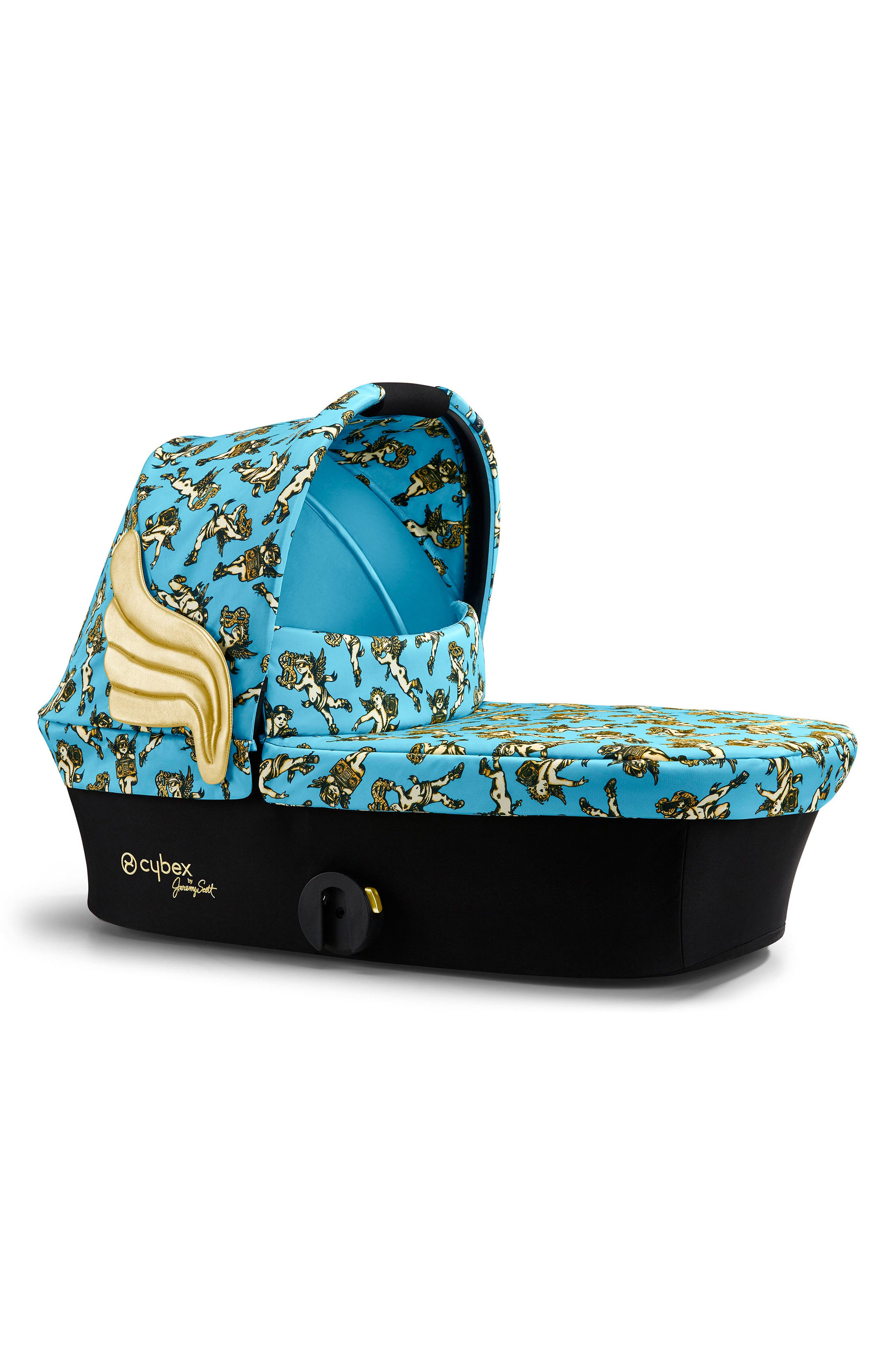 x Jeremy Scott Priam Cherub Carry Cot,                             Main thumbnail 1, color,                             Blue