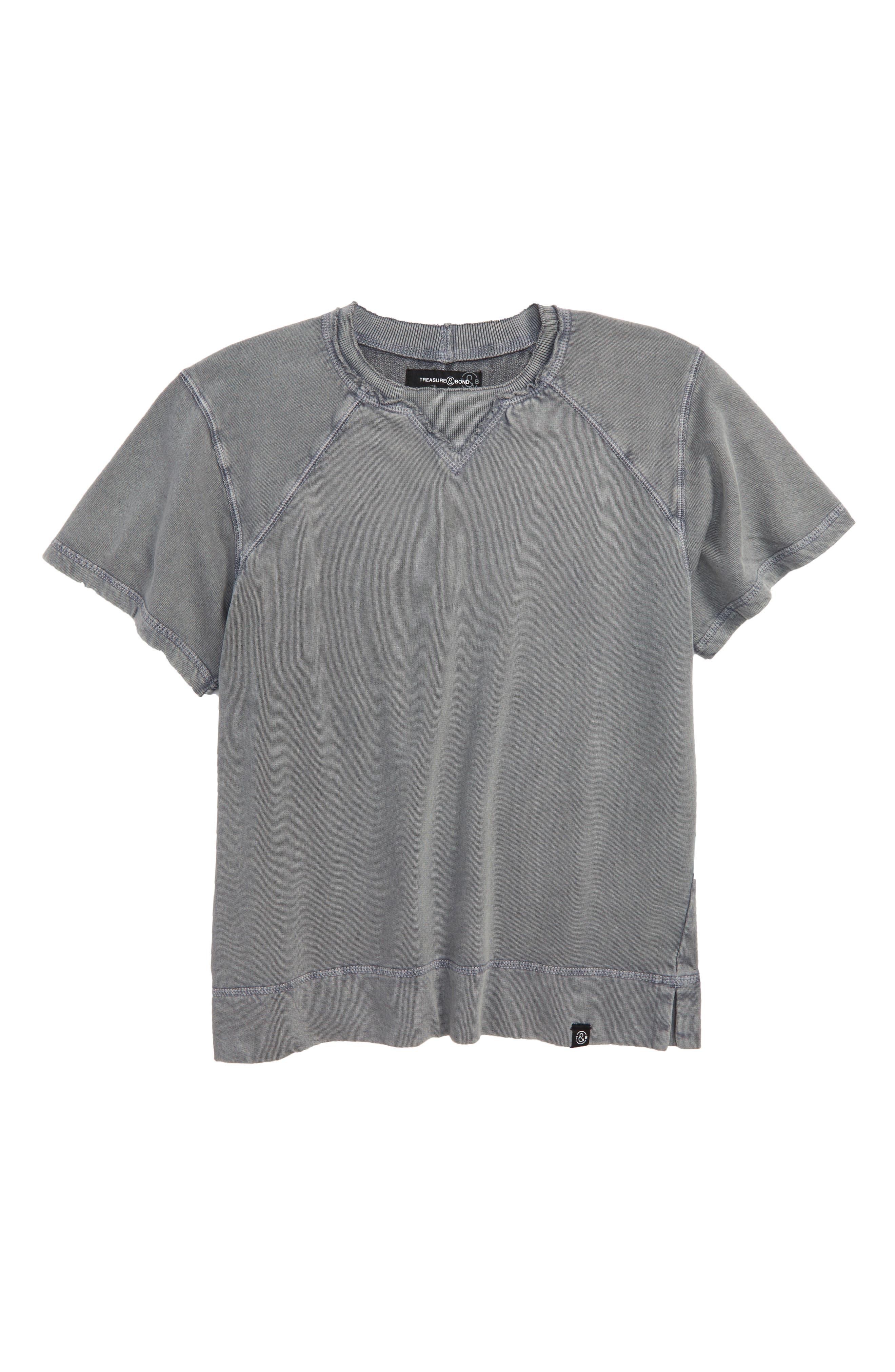 Treasure & Bond Short Sleeve Sweatshirt (Big Boys)