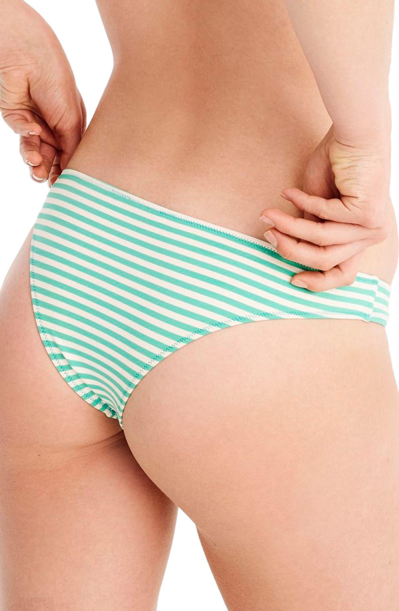 Daryl Hipster Cheeky Bikini Bottoms,                             Alternate thumbnail 2, color,                             Bright Patina/ Ivory