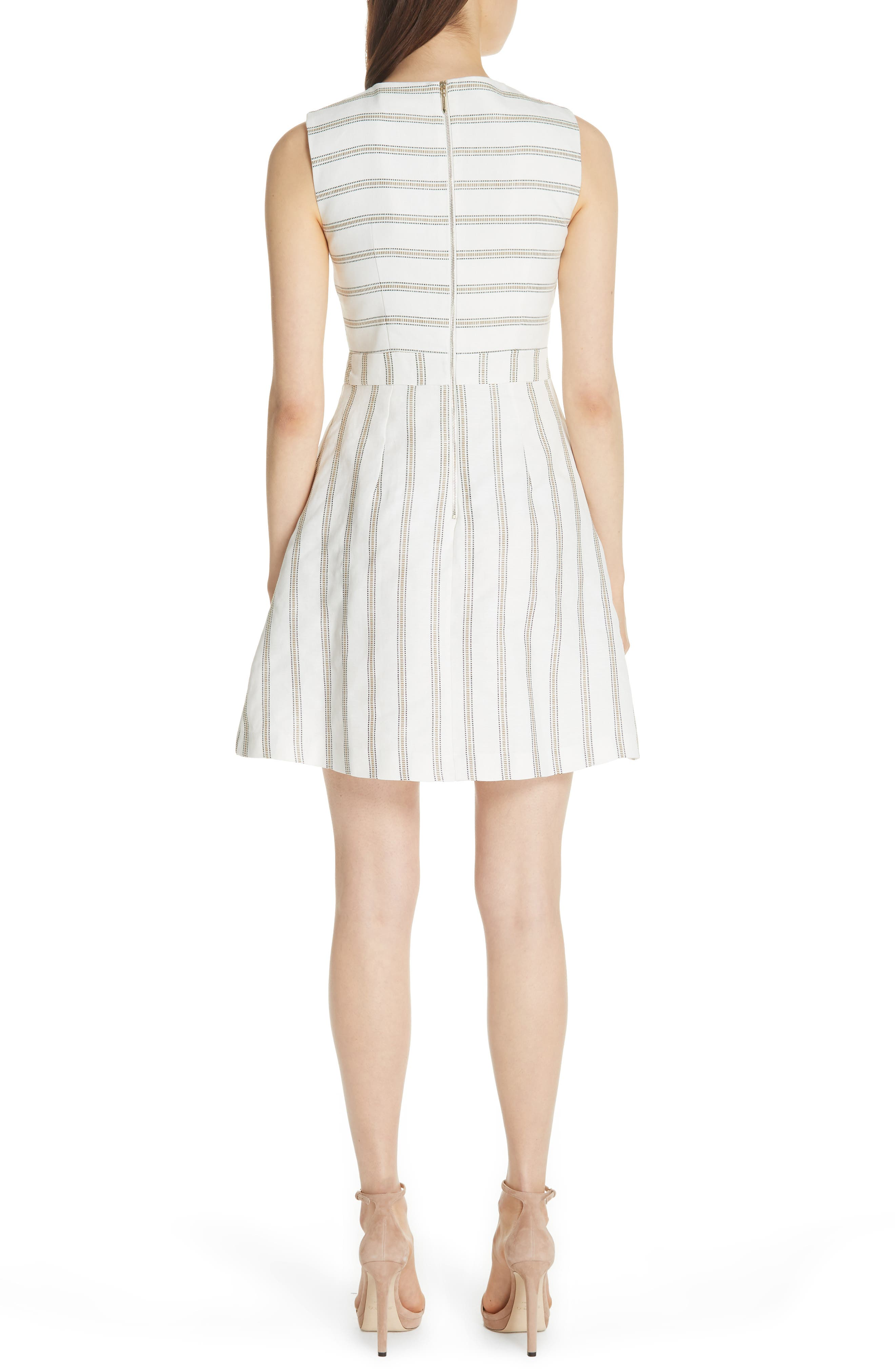 Colour by Numbers Cross Front Skater Dress,                             Alternate thumbnail 2, color,                             Ivory