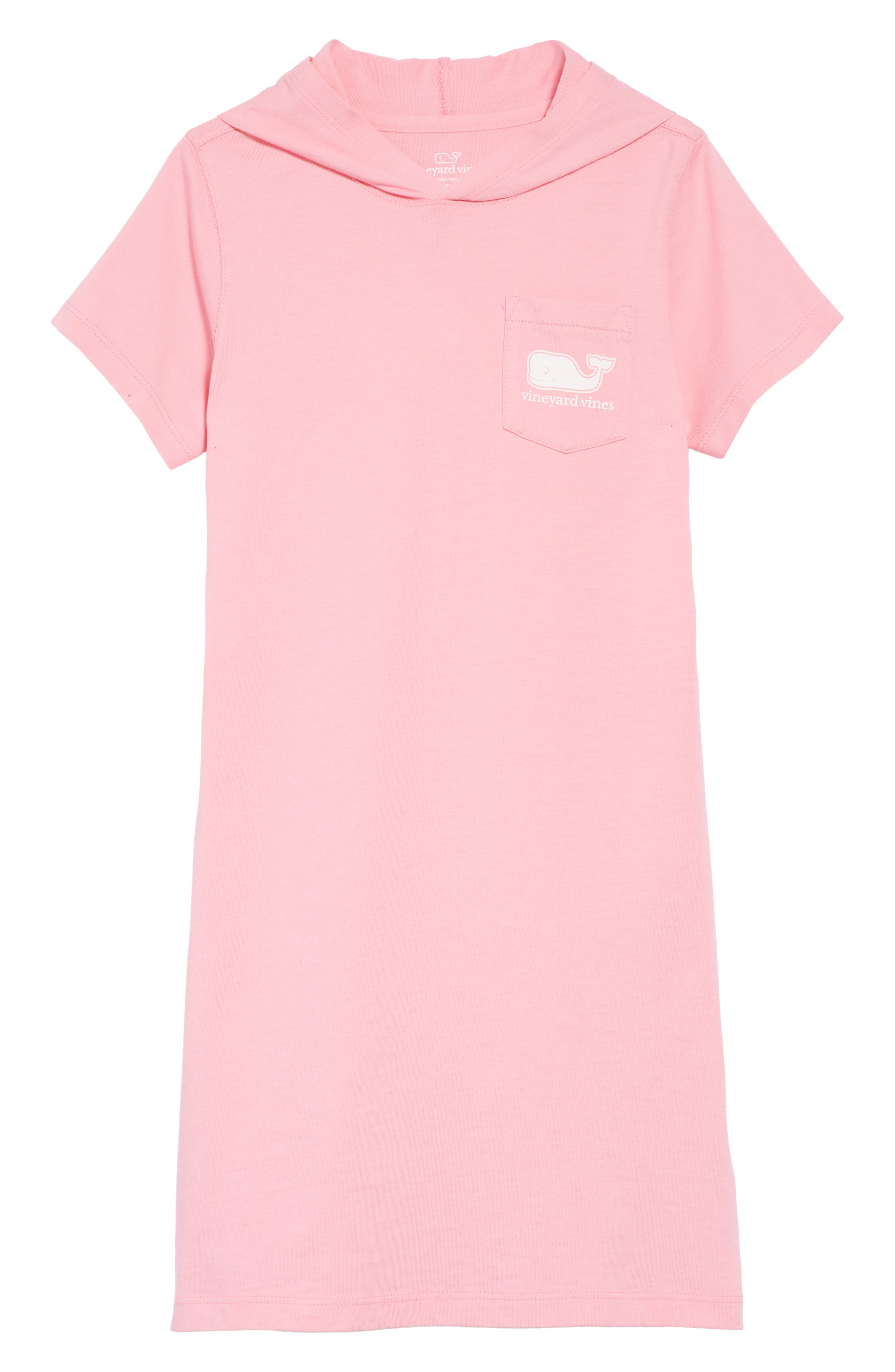 vineyard vines Hooded T-Shirt Dress (Little Girls & Big Girls)