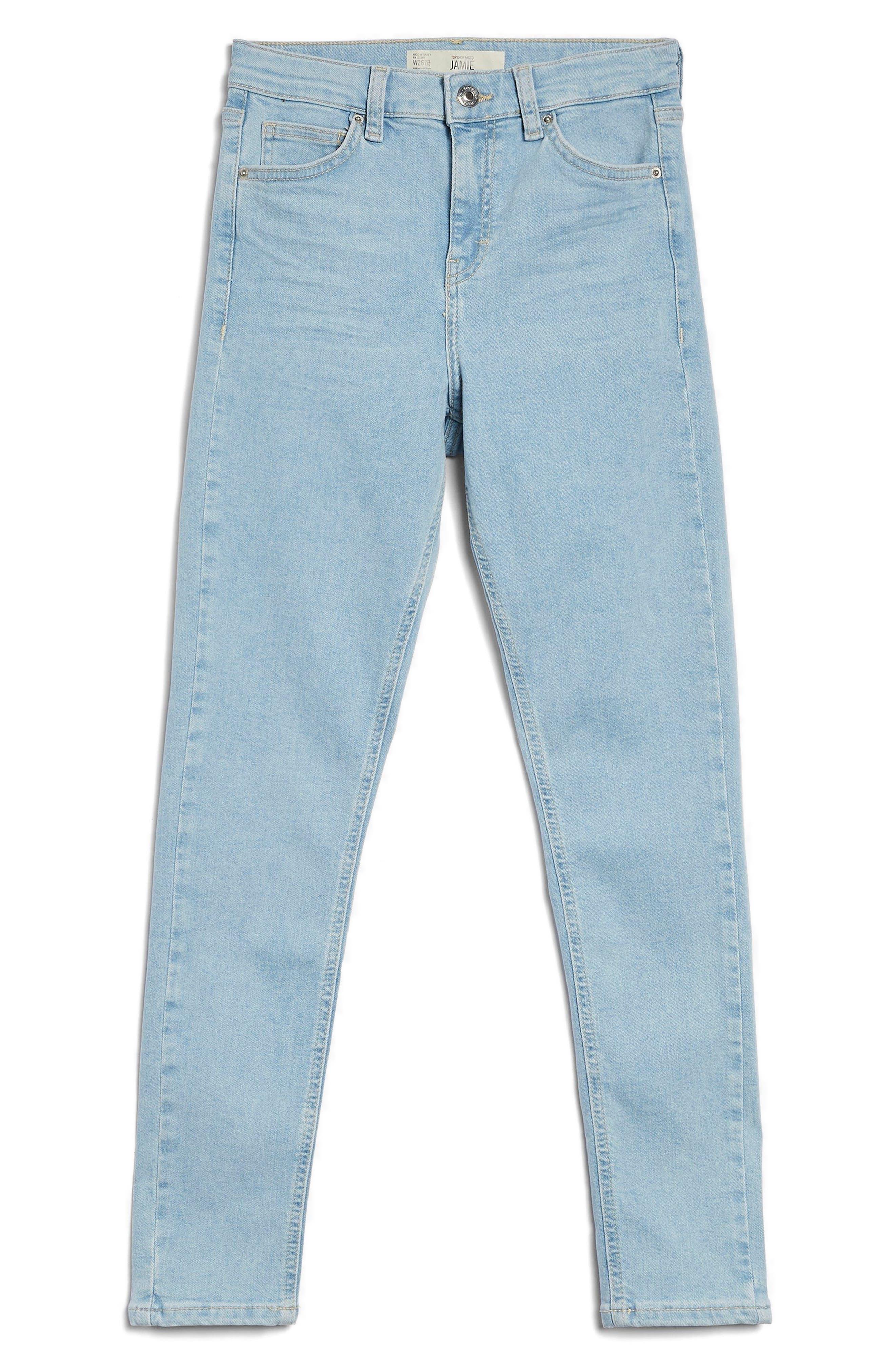 Moto Jamie Jeans,                             Alternate thumbnail 4, color,                             Light Denim